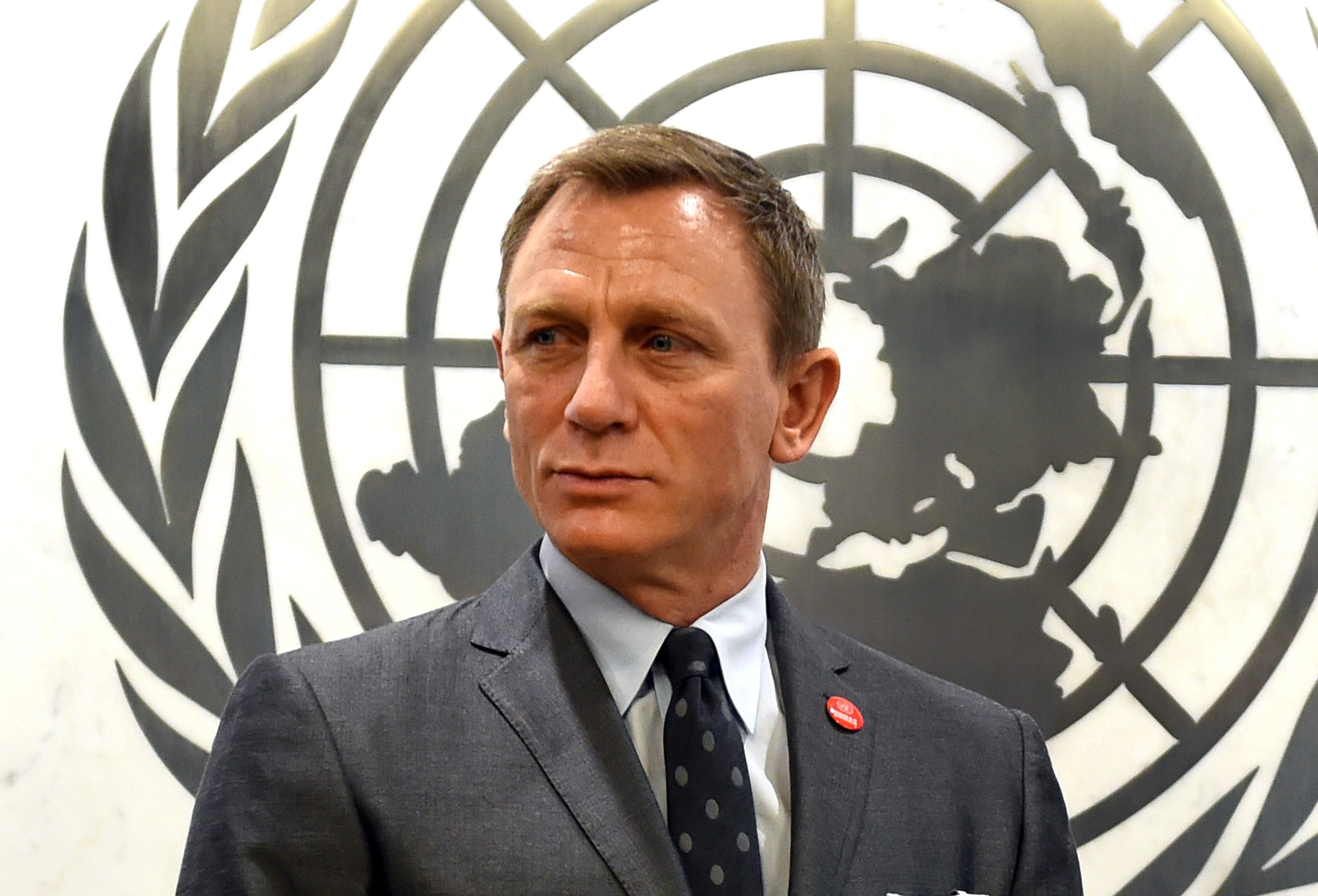Actor Daniel Craig was named the UN Global Advocate for the Elimination of Mines and Explosive Hazards at the United Nations in New York City on April 14, 2015.