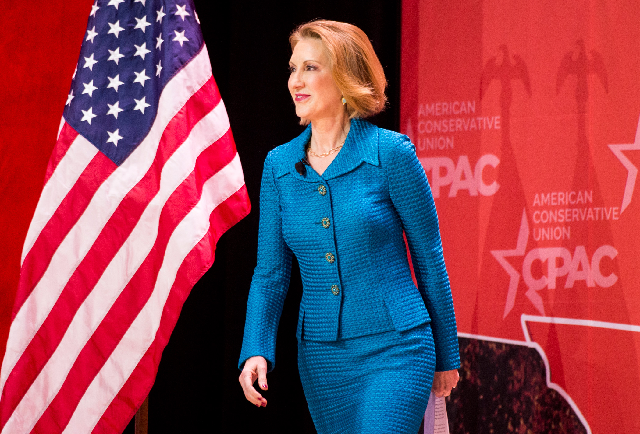 Carly Fiorina at CPAC on Feb. 26, 2015 in National Harbor, Md.