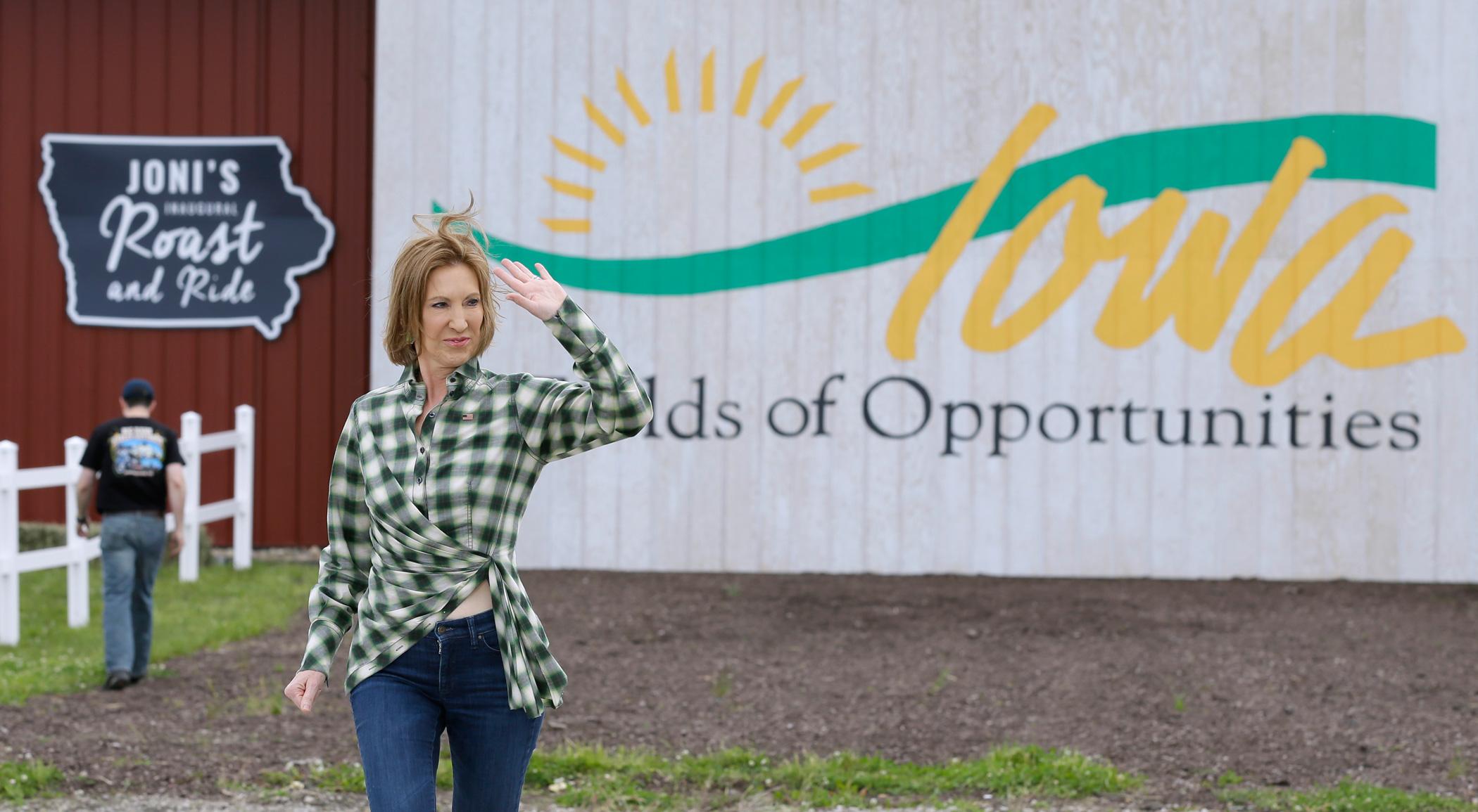 Carly Fiorina on June 6, 2015 in Boone, Iowa.