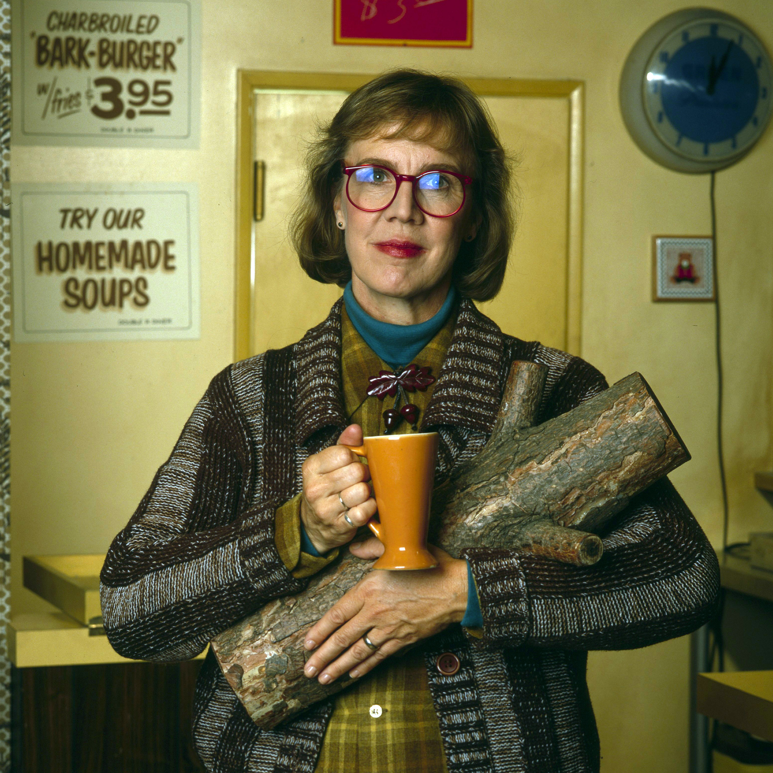 Catherine E. Coulson in her role as the Log Lady on 'Twin Peaks,' July 26, 1990.