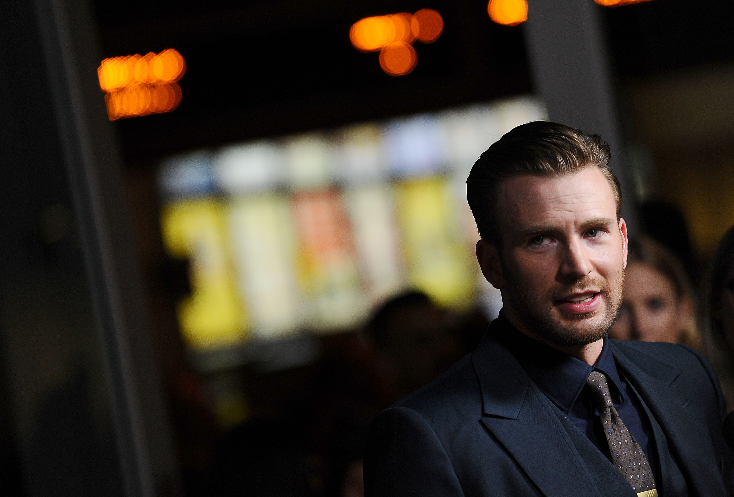 Chris Evans attends the premiere of  Before We Go  in Hollywood on Sept. 2, 2015.