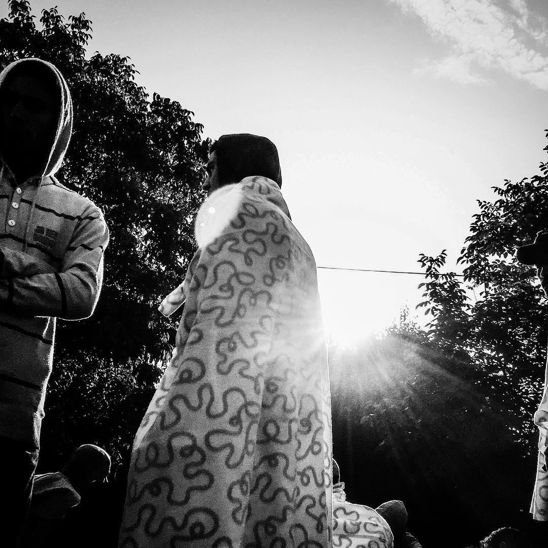 Hundreds of refugees wait in line for buses in Tovarnik, Croatia. Sept. 19, 2015.