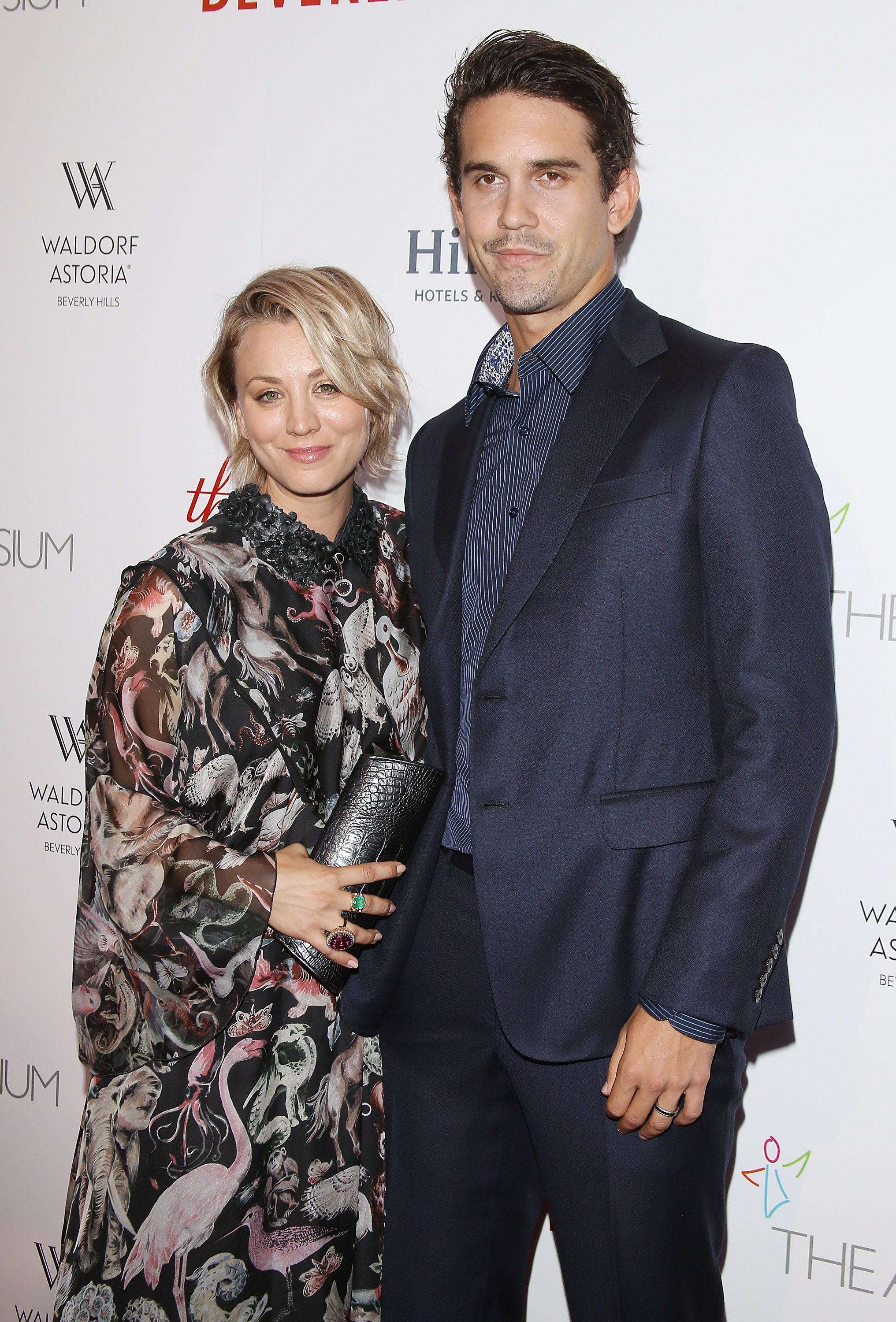 Kaley Cuoco-Sweeting and Ryan Sweeting arrive at The Beverly Hilton celebrates 60 Years with a Diamond Anniversary Party held on Aug. 21, 2015 in Beverly Hills, Calif.