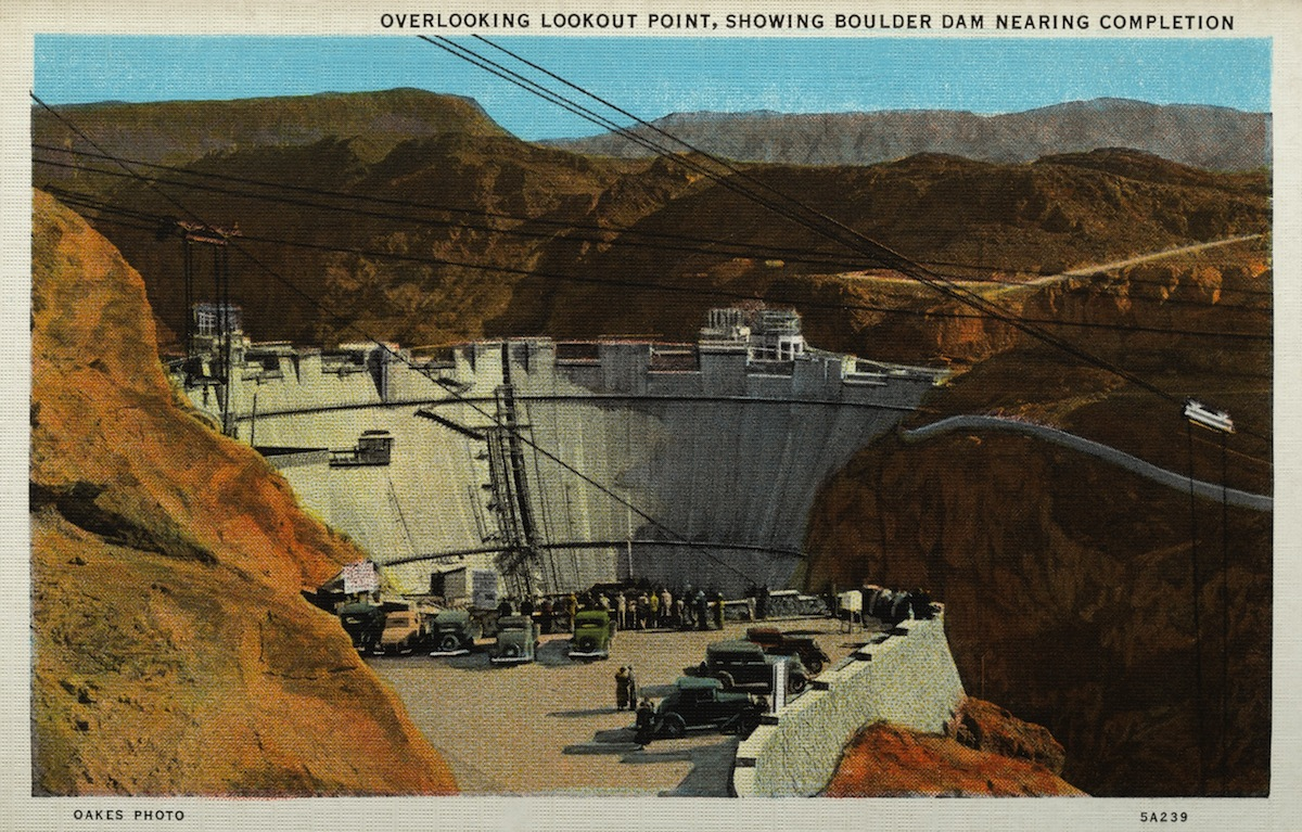 Boulder Dam nearing completion. ca. 1935