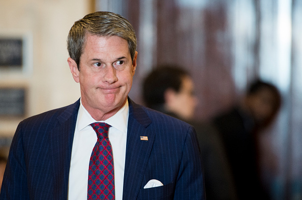 Sen. David Vitter, R-La., leaves the bipartisan Senate luncheon in the Kennedy Caucus Room in the Russell Senate Office Building on Wednesday, Feb. 4, 2015.