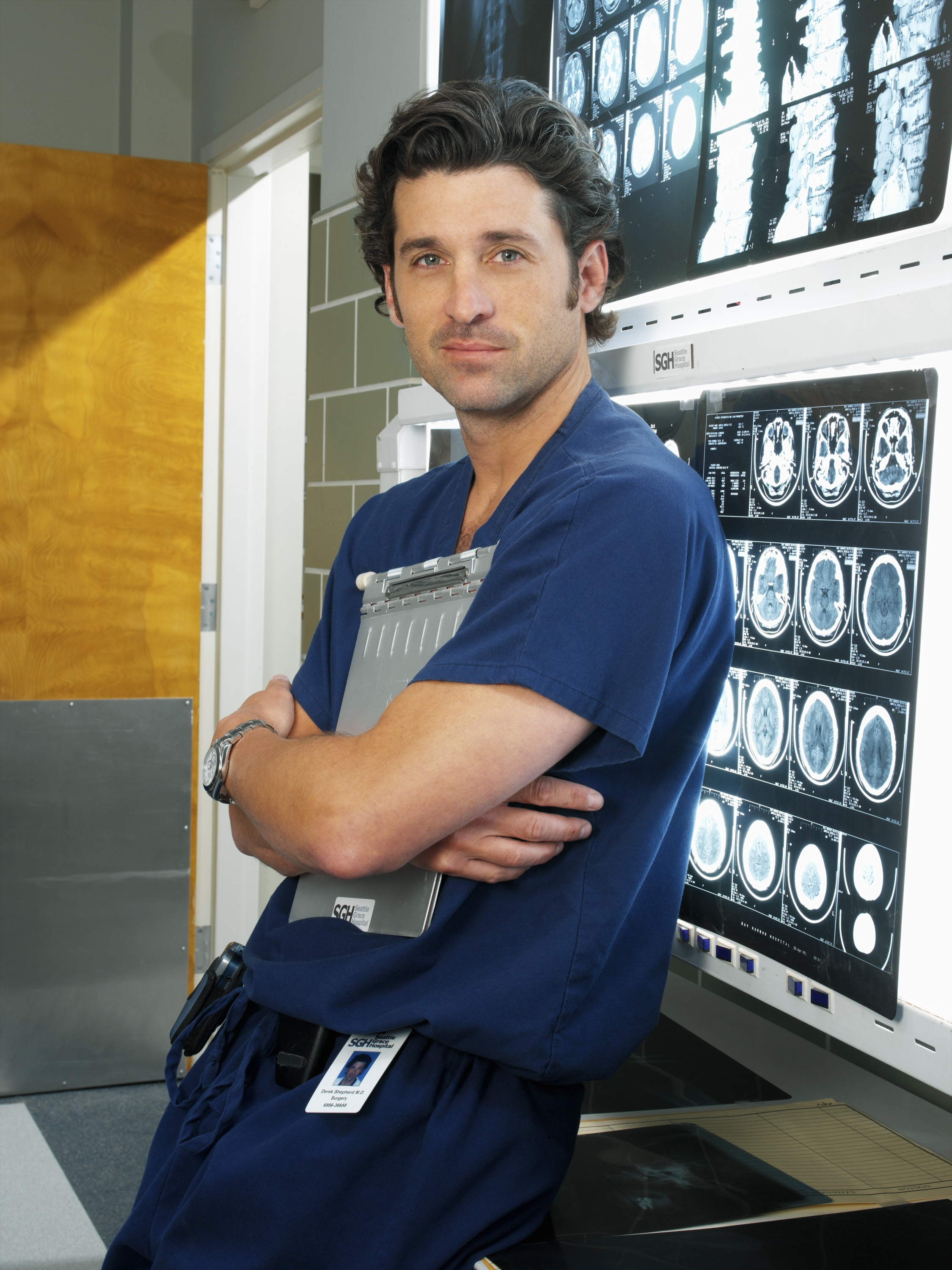 Patrick Dempsey as Dr. Derek Shepherd in Grey's Anatomy