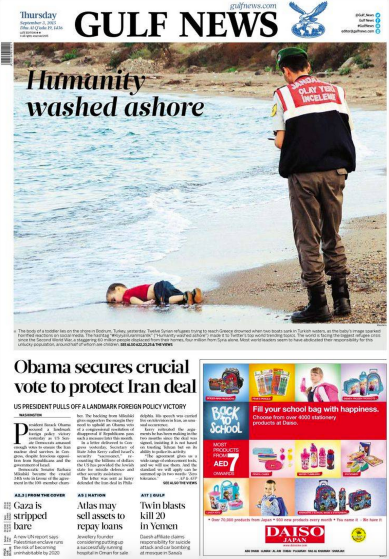Drowned Migrant Boy Gulf News Front Page