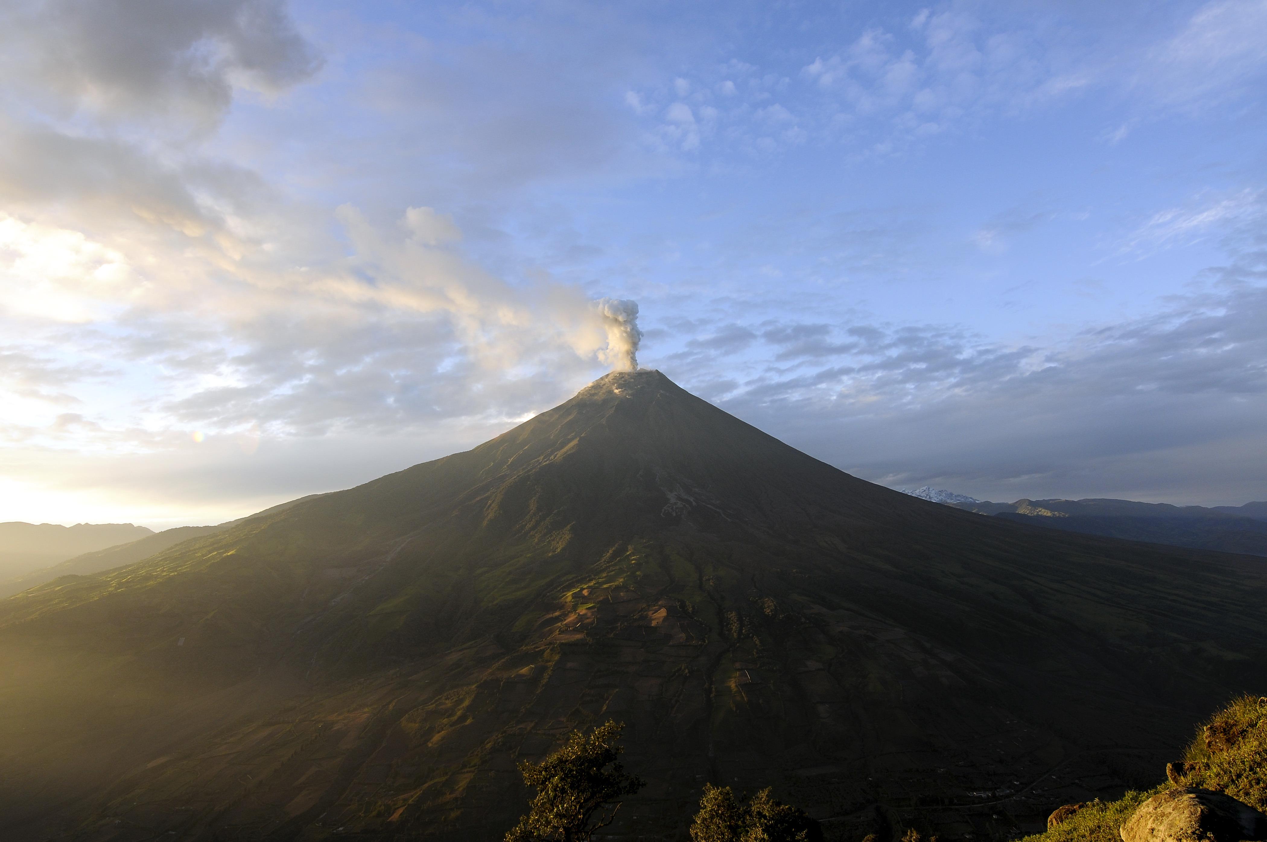Tungurahua Volcano Erupts In Ecuador
