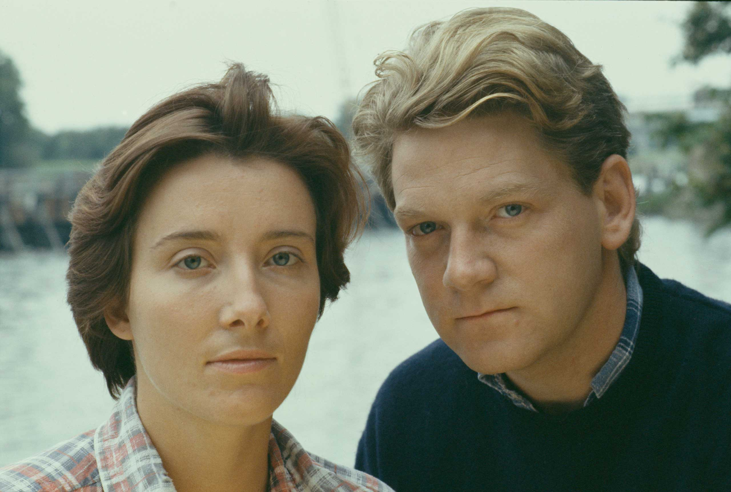 <b>Emma Thompson and Kenneth Brannagh</b>Photographed for TV Times in 1989.                                   The young couple, who married that year, were snapped for an ITV adaptation of <i>Look Back in Anger</i>.