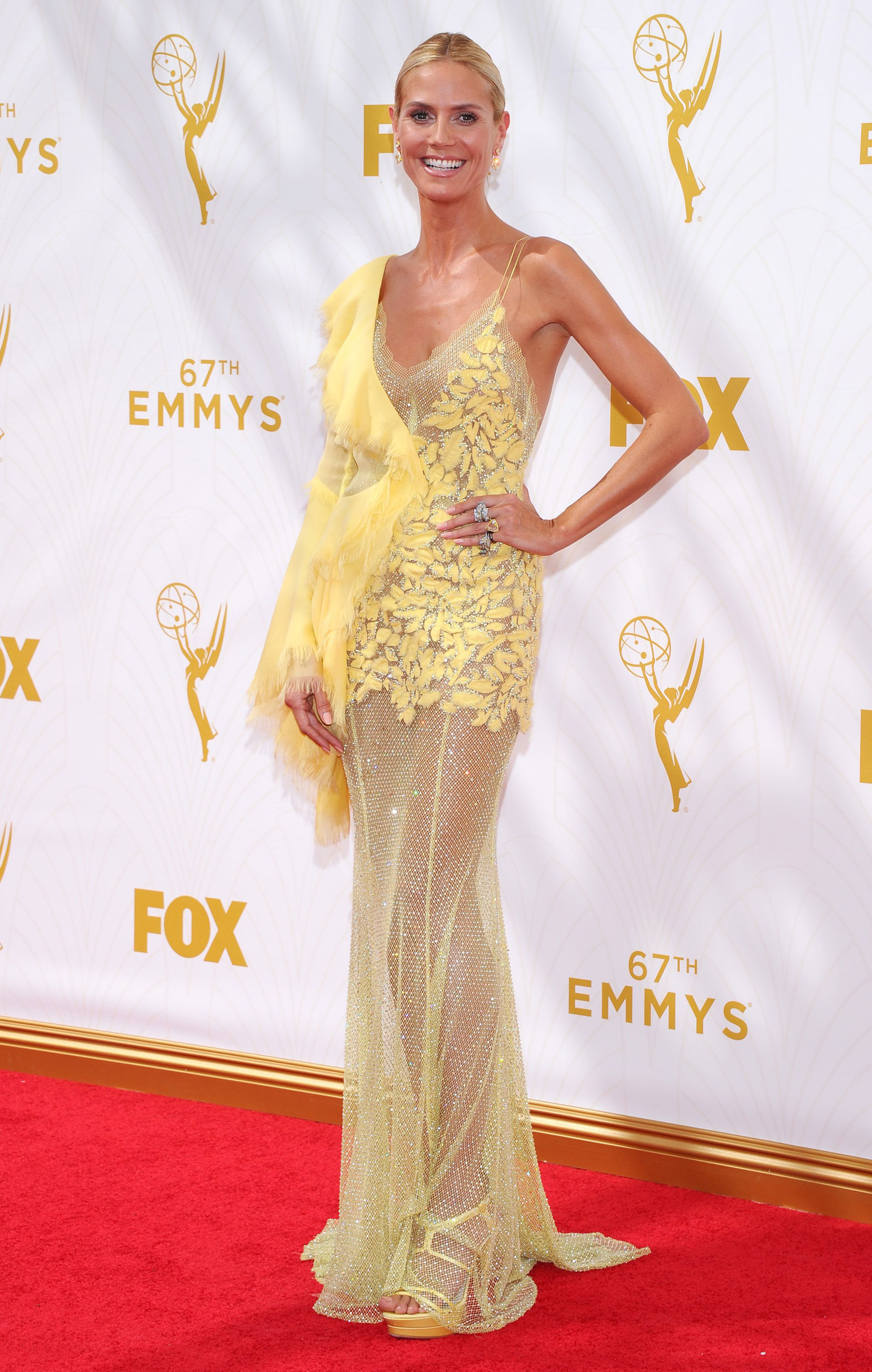 Heidi Klum at the 67th Emmy Award on Sept. 20, 2015 in Los Angeles.