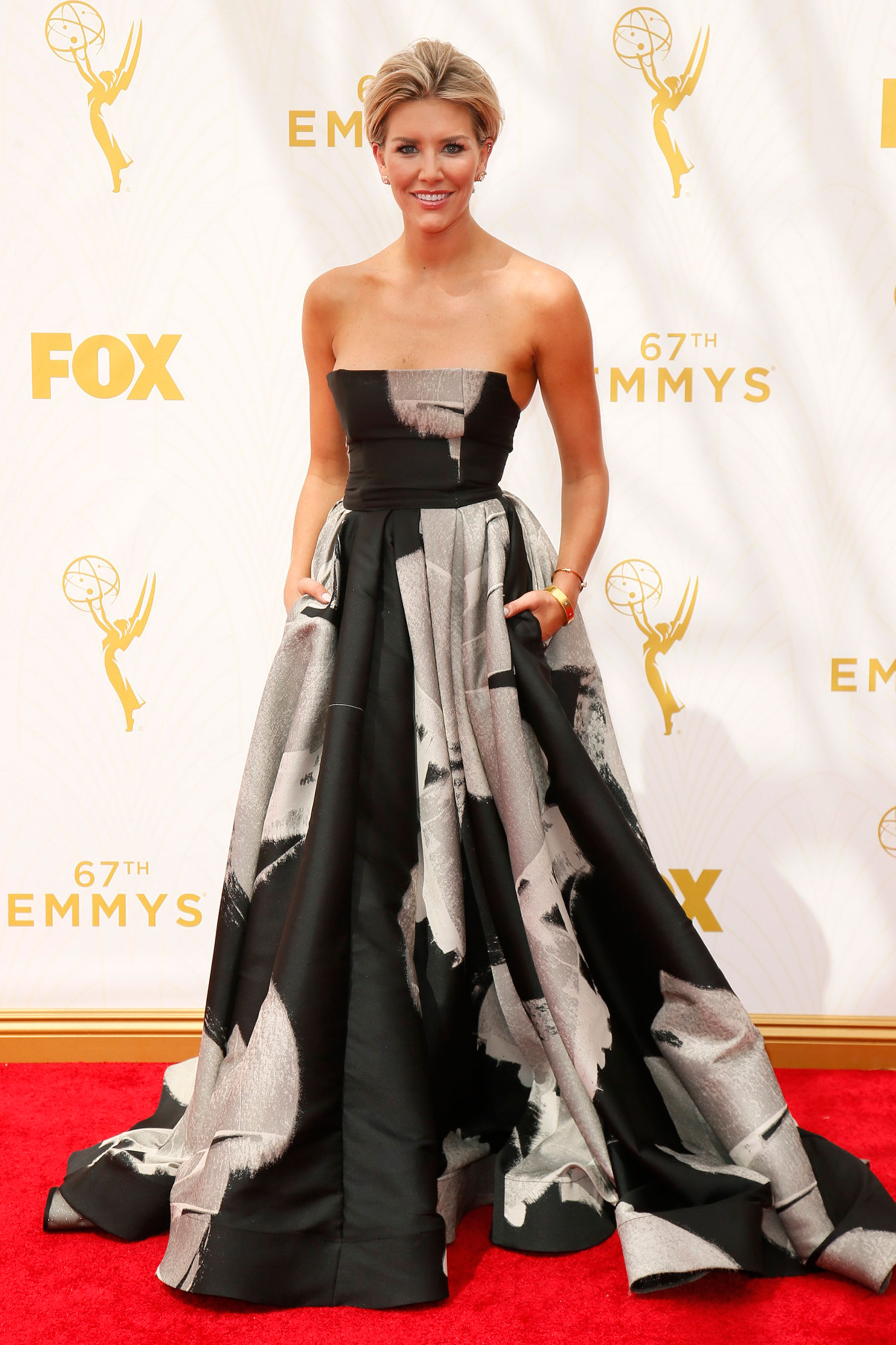Charissa Thompson at the 67th Emmy Award on Sept. 20, 2015 in Los Angeles.