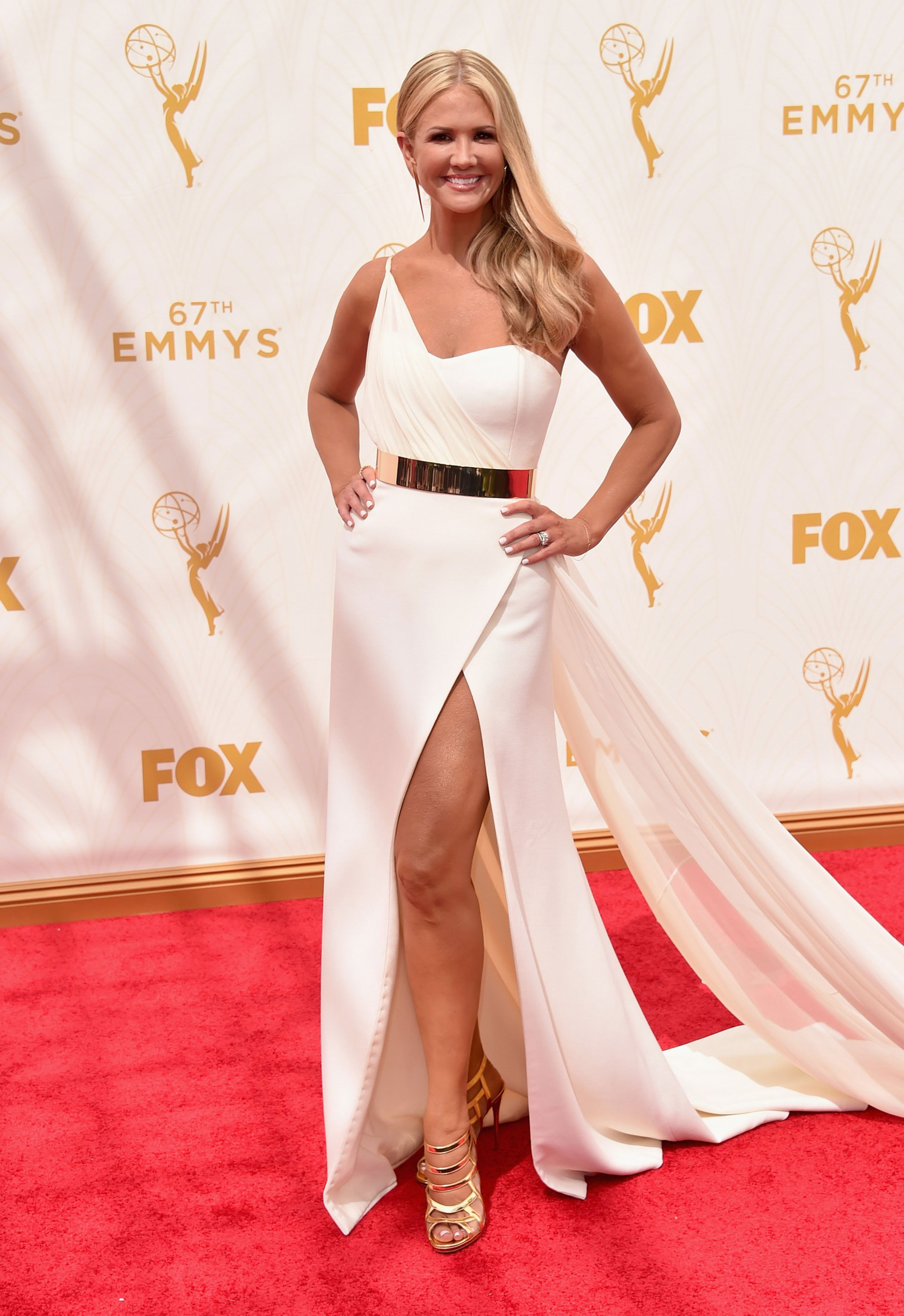 Nancy O'Dell at the 67th Emmy Award on Sept. 20, 2015 in Los Angeles.
