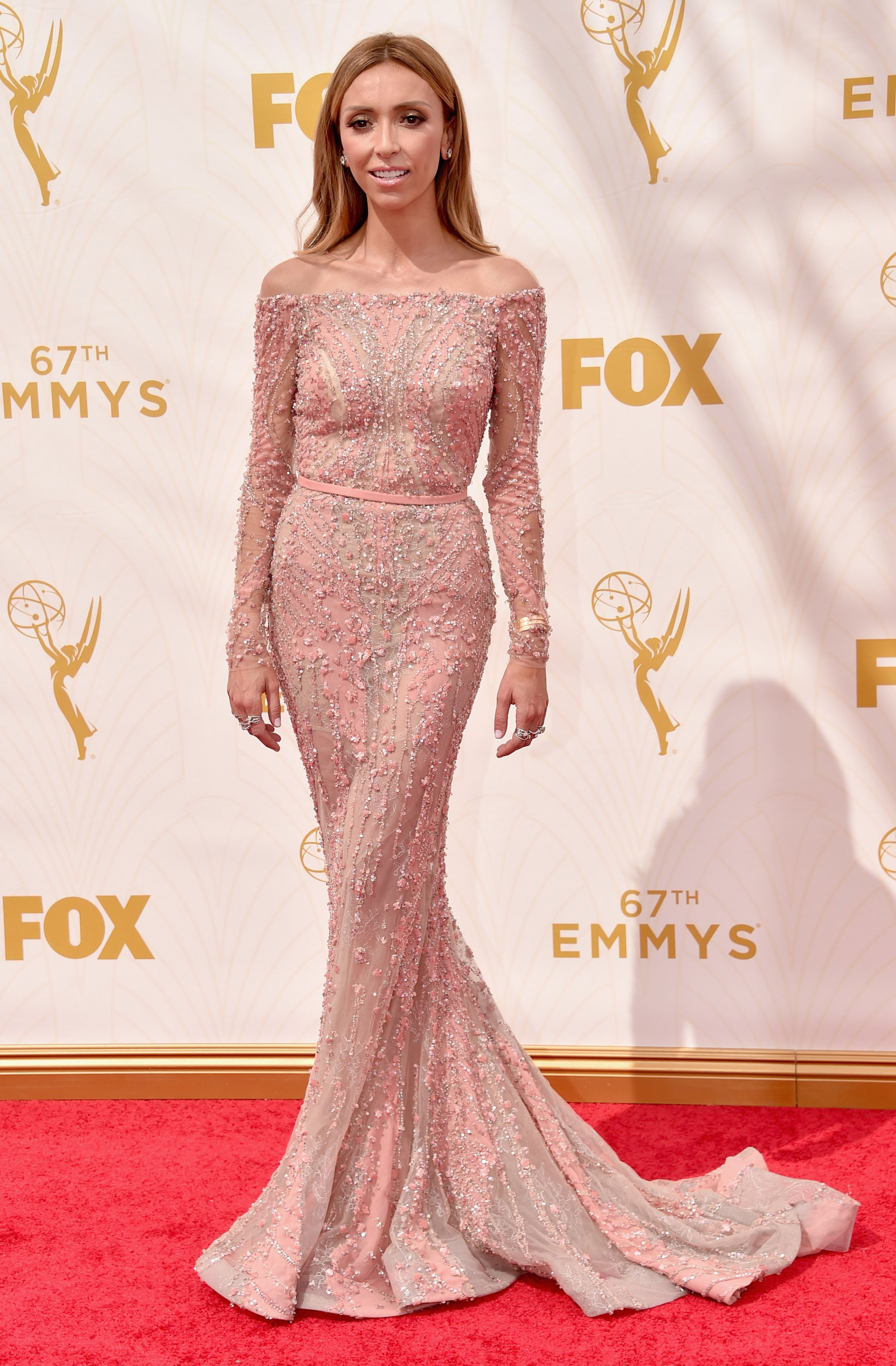 Giuliana Rancic at the 67th Emmy Award on Sept. 20, 2015 in Los Angeles.