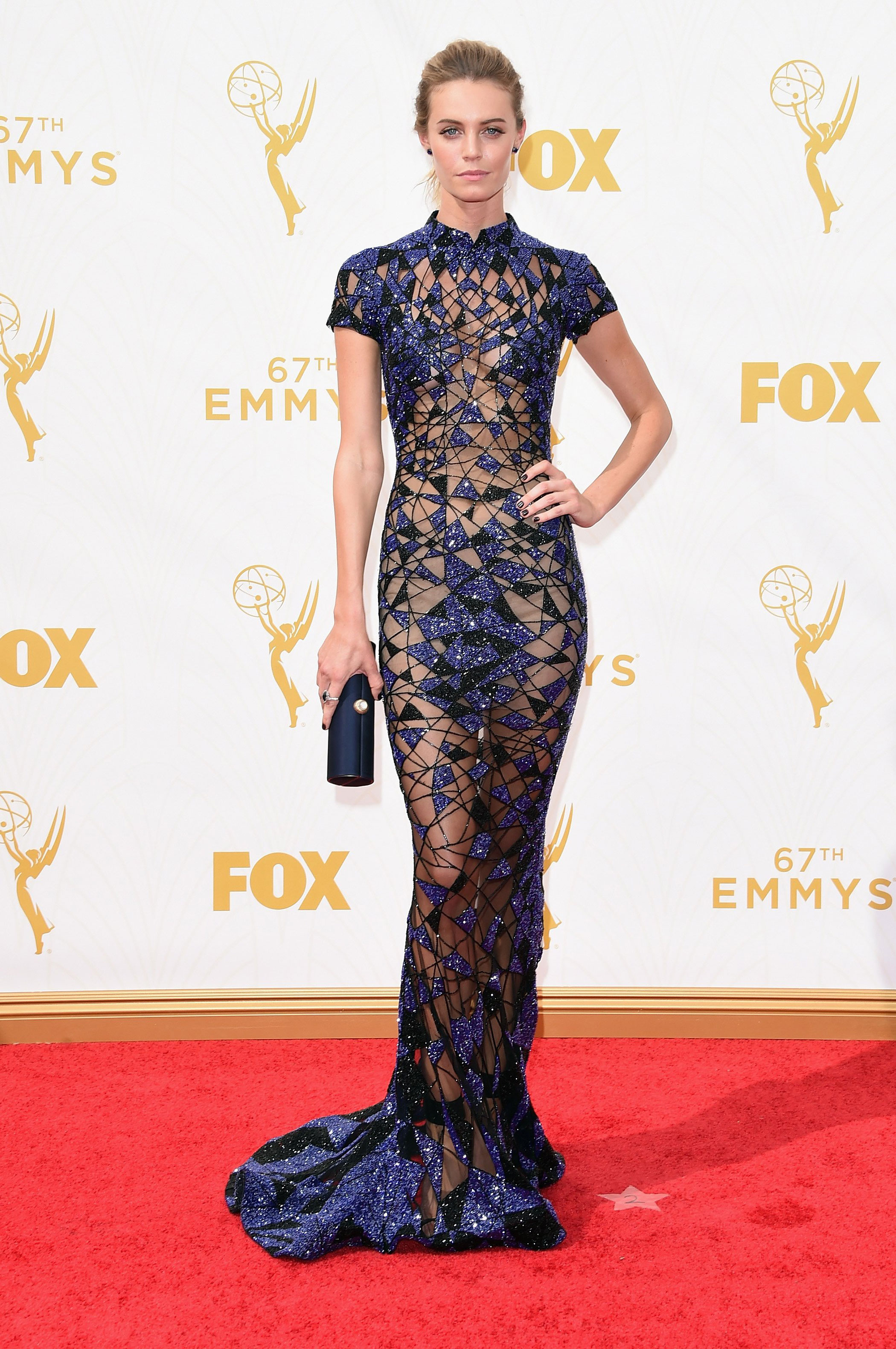 Christine Marzano at the 67th Emmy Award on Sept. 20, 2015 in Los Angeles.