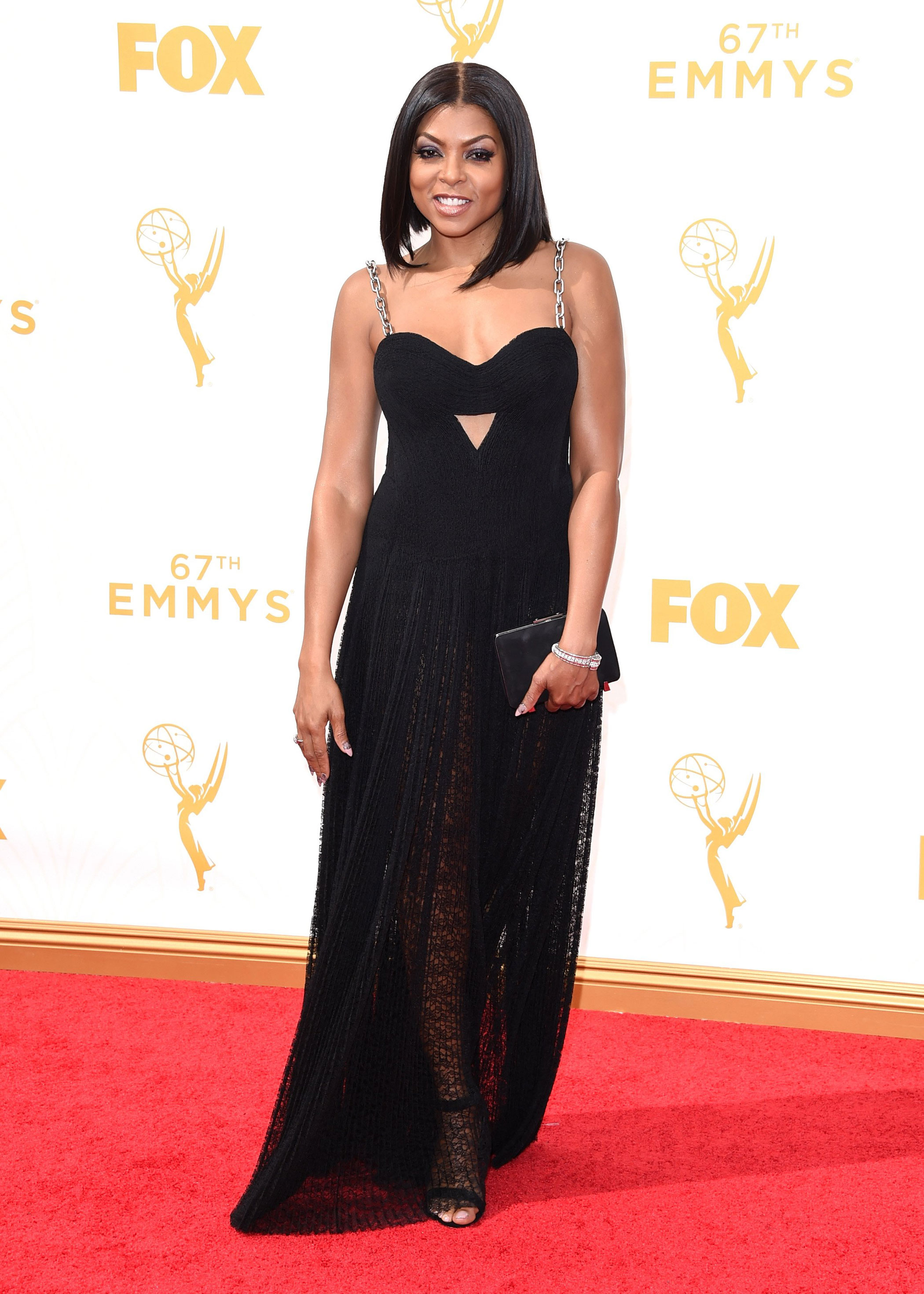 Taraji P. Henson at the 67th Emmy Award on Sept. 20, 2015 in Los Angeles.