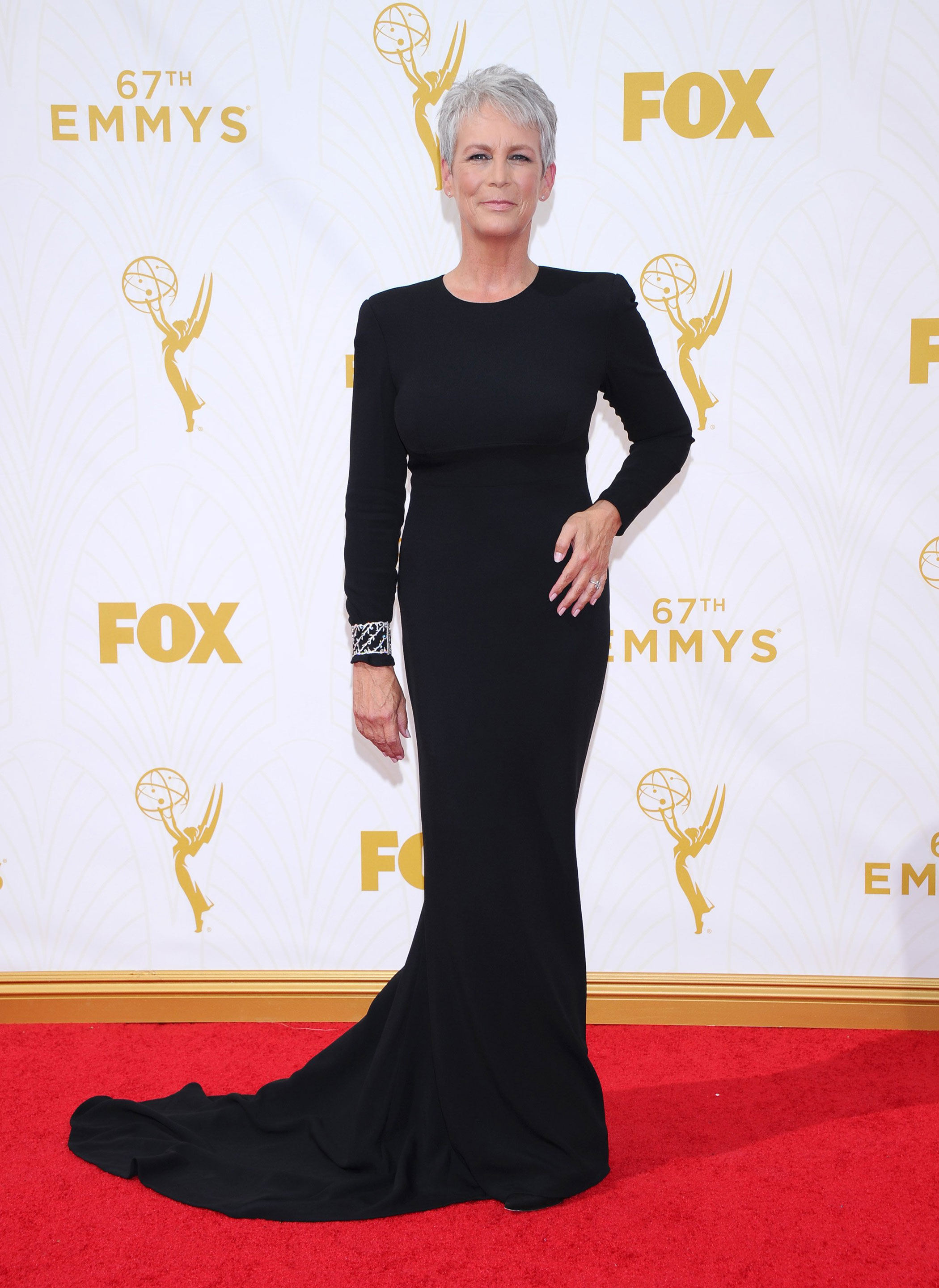 Jamie Lee Curtis at the 67th Emmy Award on Sept. 20, 2015 in Los Angeles.