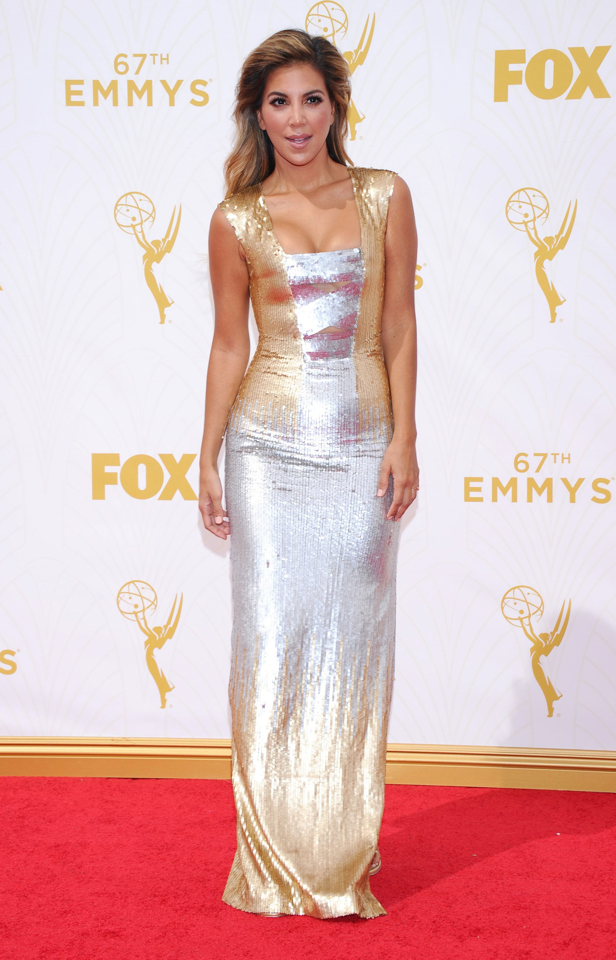 Liz Hernandez at the 67th Emmy Award on Sept. 20, 2015 in Los Angeles.
