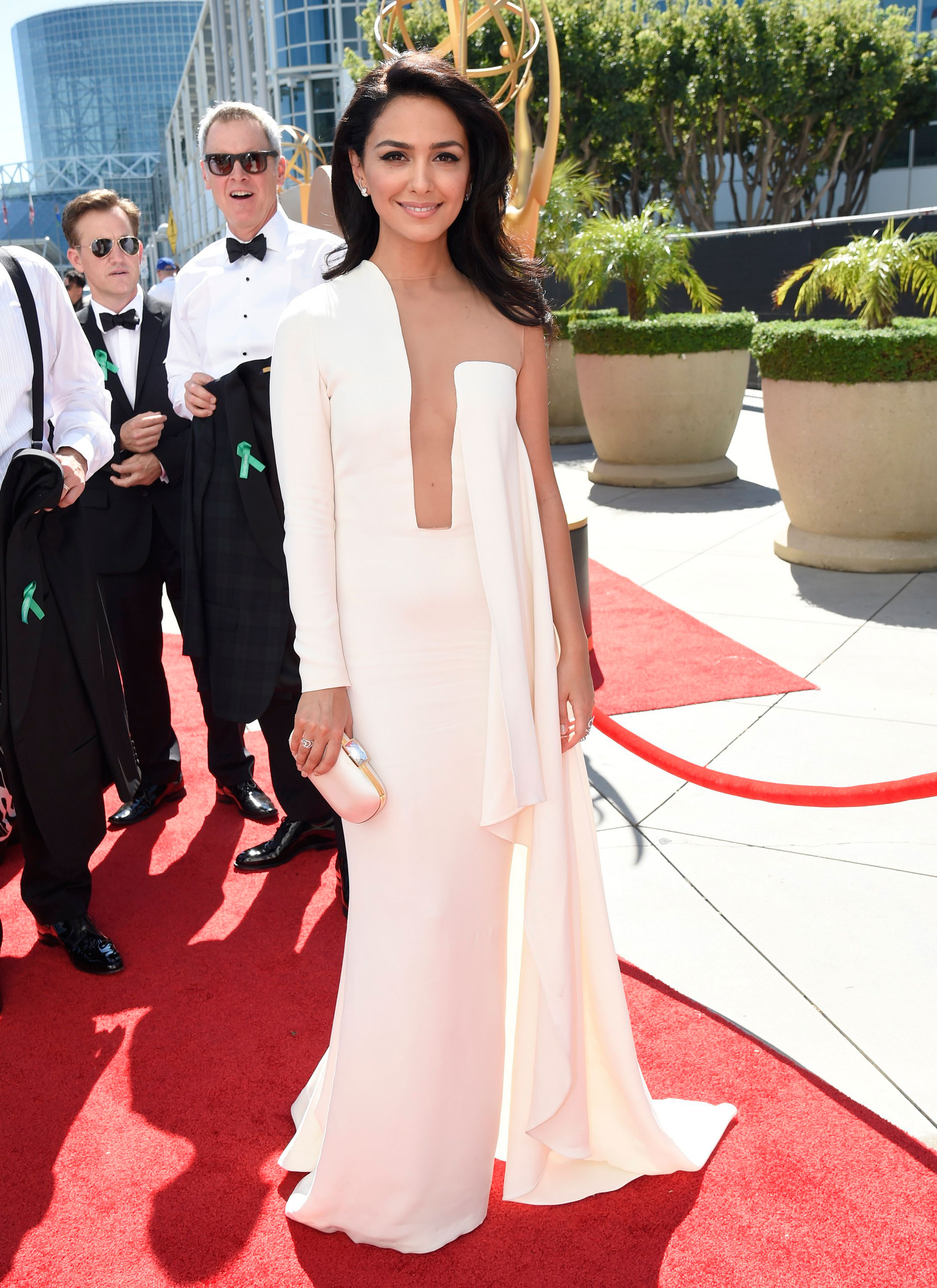 Nazanin Boniadi at the 67th Emmy Award on Sept. 20, 2015 in Los Angeles.