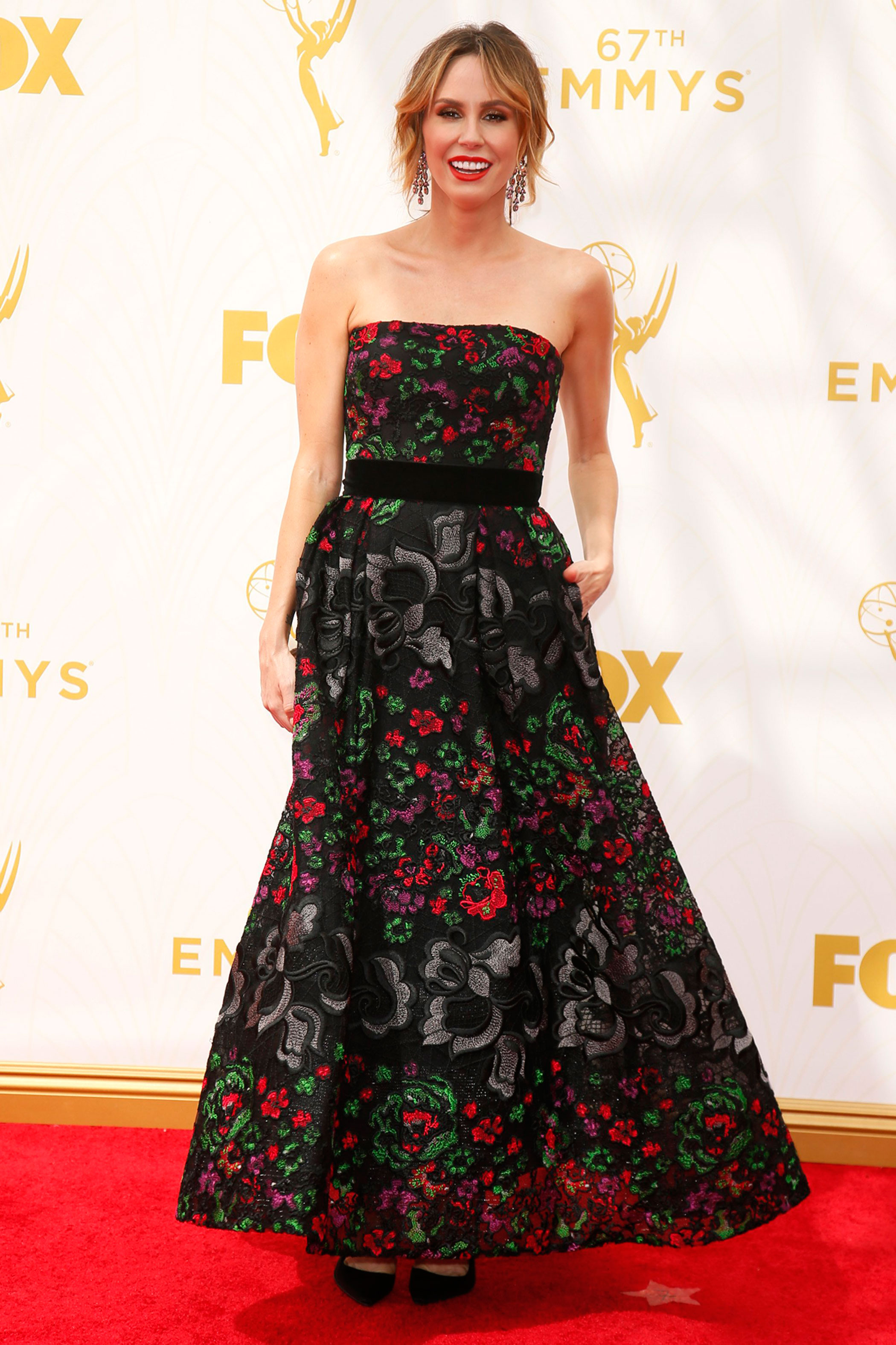 Keltie Knight at the 67th Emmy Award on Sept. 20, 2015 in Los Angeles.