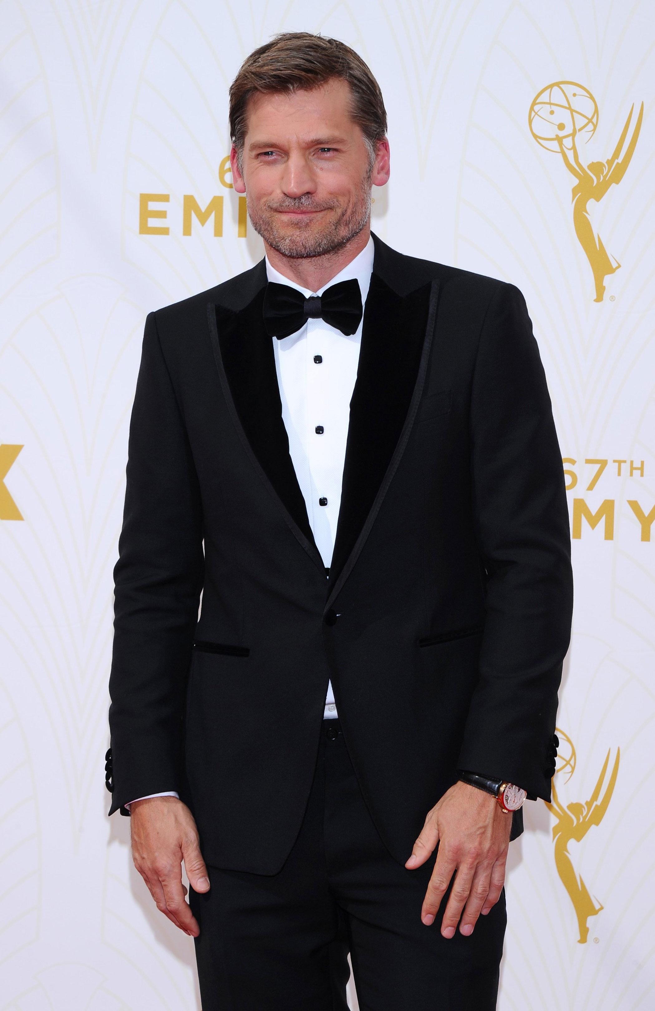Nikolaj Coster-Waldau at the 67th Emmy Award on Sept. 20, 2015 in Los Angeles.