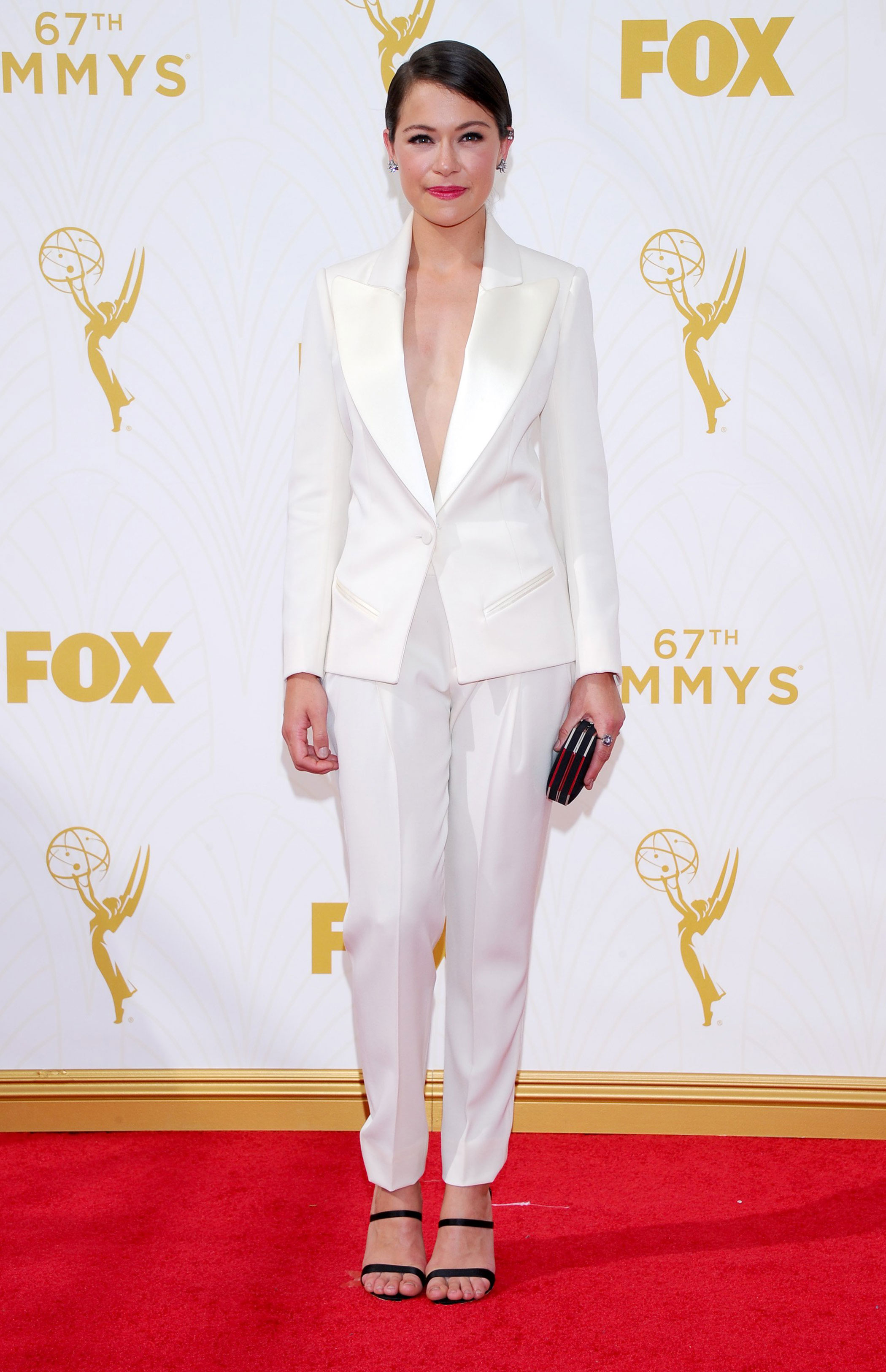 Tatiana Maslany at the 67th Emmy Award on Sept. 20, 2015 in Los Angeles.
