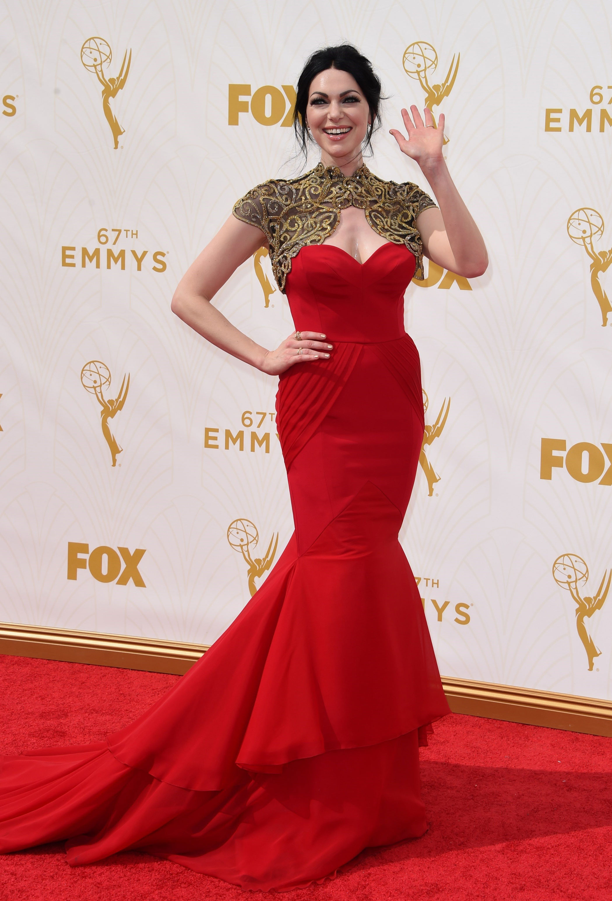 Laura Prepon at the 67th Emmy Award on Sept. 20, 2015 in Los Angeles.