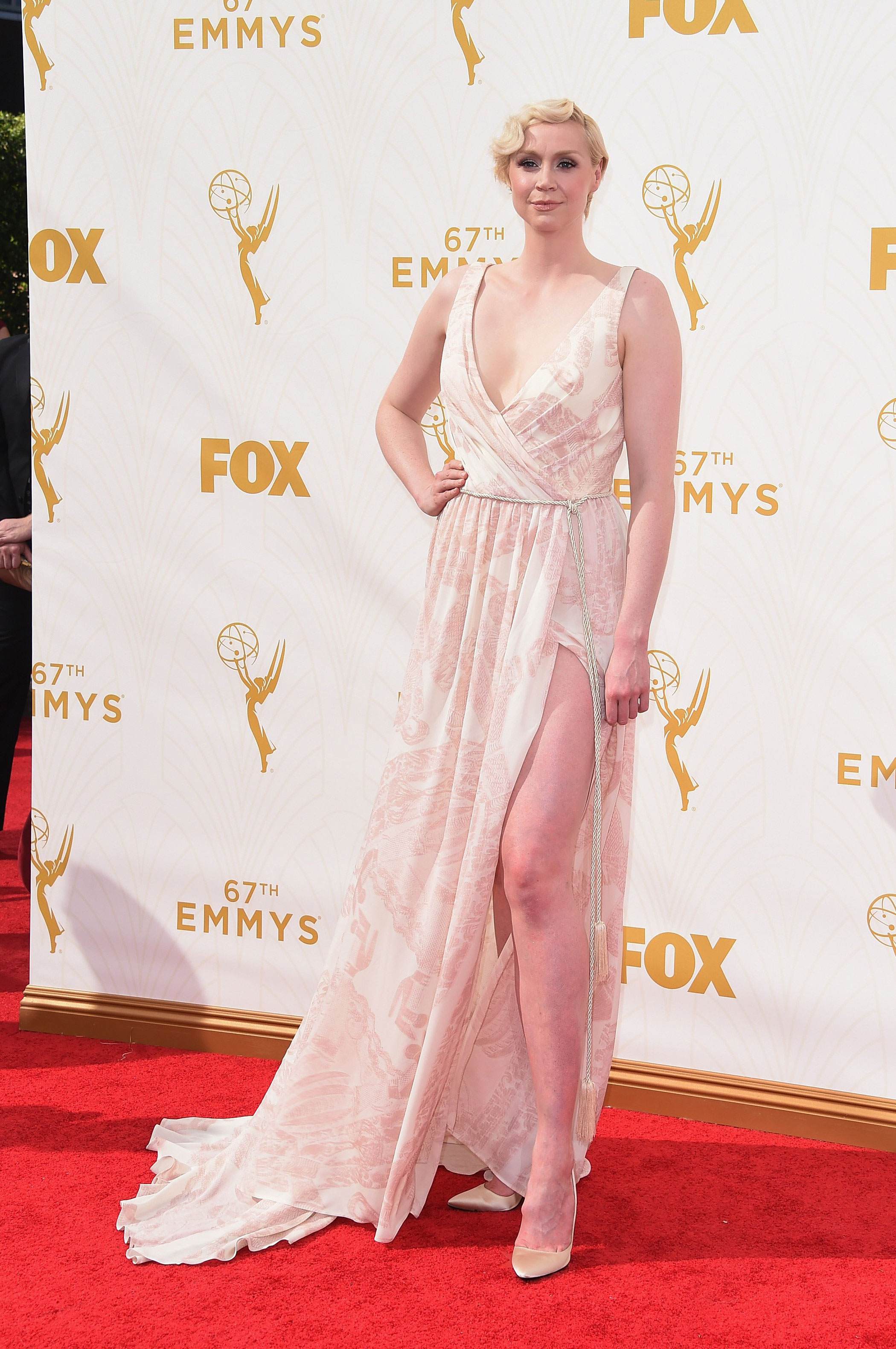Gwendoline Christie at the 67th Emmy Award on Sept. 20, 2015 in Los Angeles.
