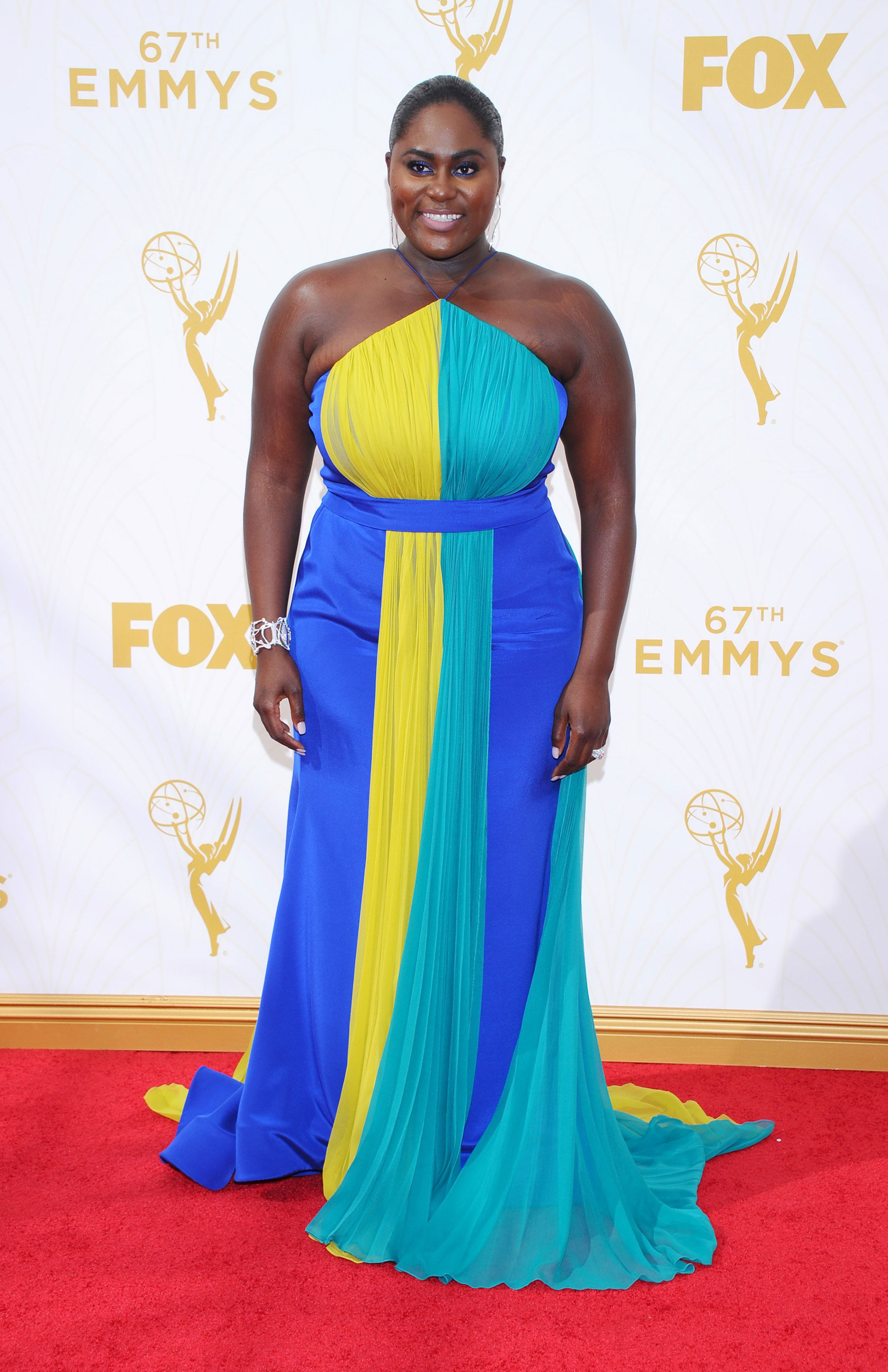 Danielle Brooks at the 67th Emmy Award on Sept. 20, 2015 in Los Angeles.