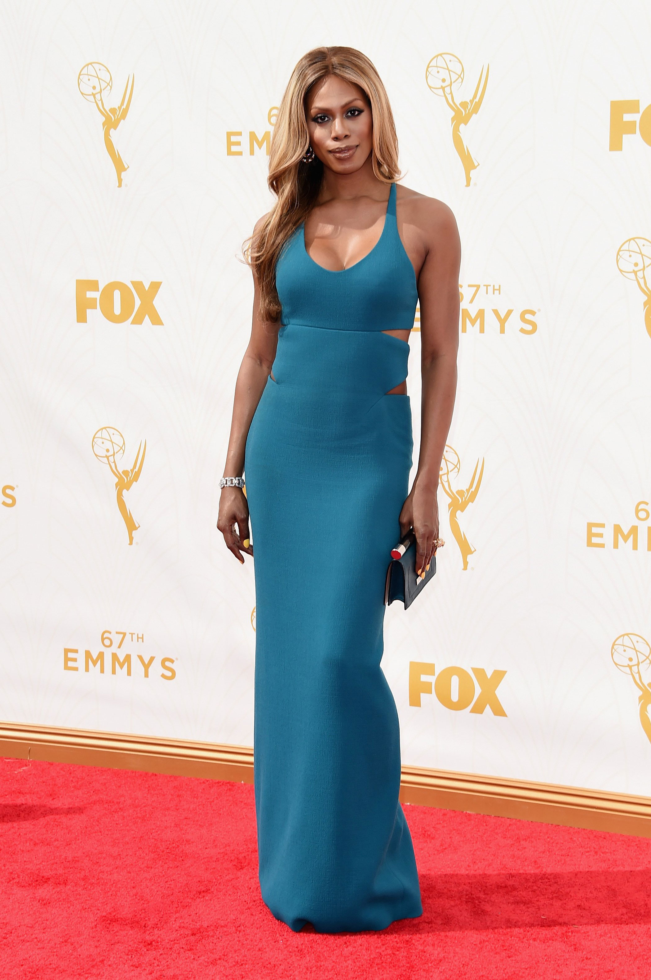 Laverne Cox at the 67th Emmy Award on Sept. 20, 2015 in Los Angeles.