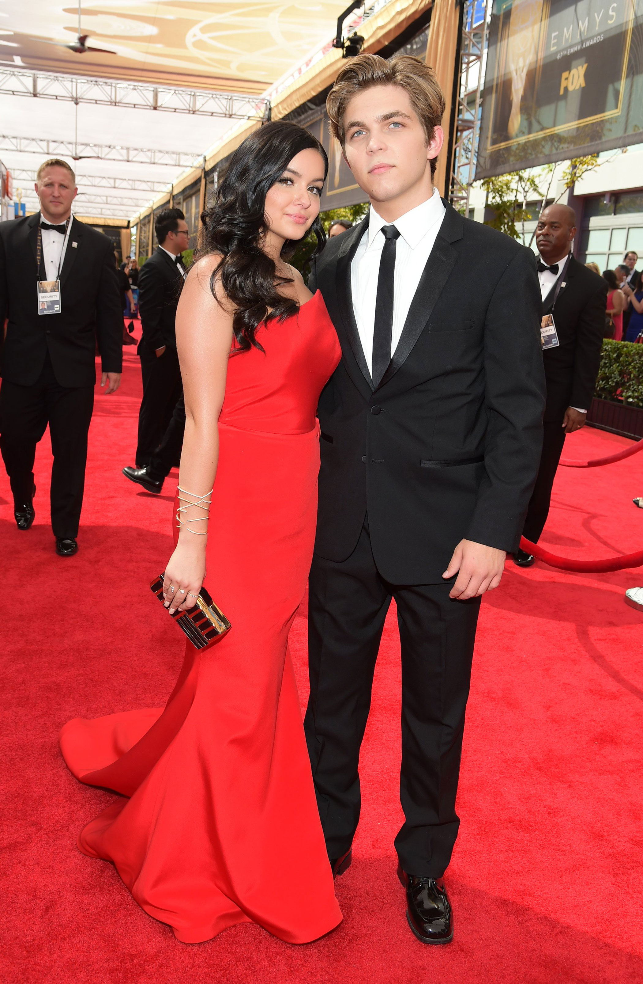 Ariel Winter and Laurent Claude Gaudette at the 67th Emmy Award on Sept. 20, 2015 in Los Angeles.