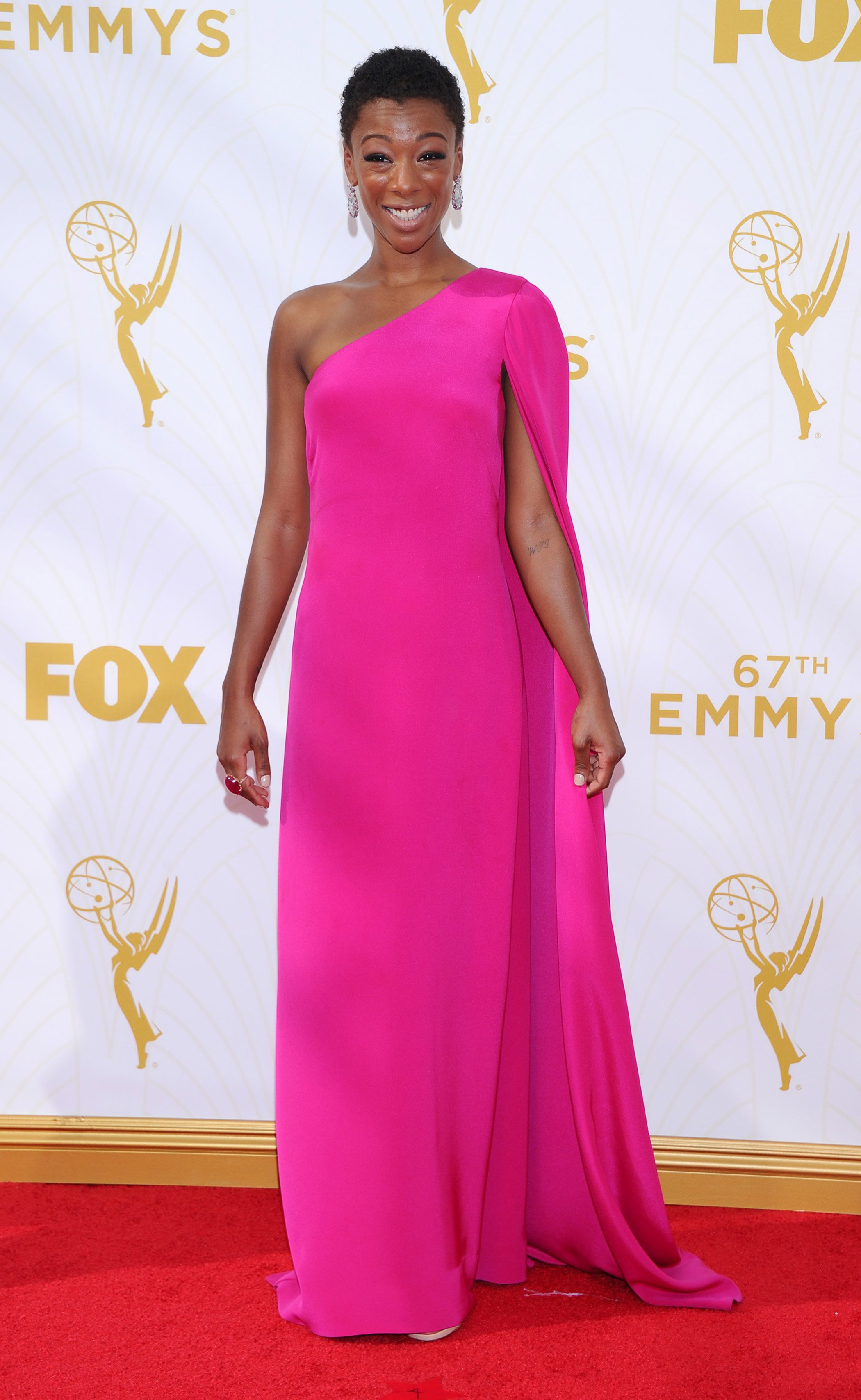 Samira Wiley at the 67th Emmy Award on Sept. 20, 2015 in Los Angeles.