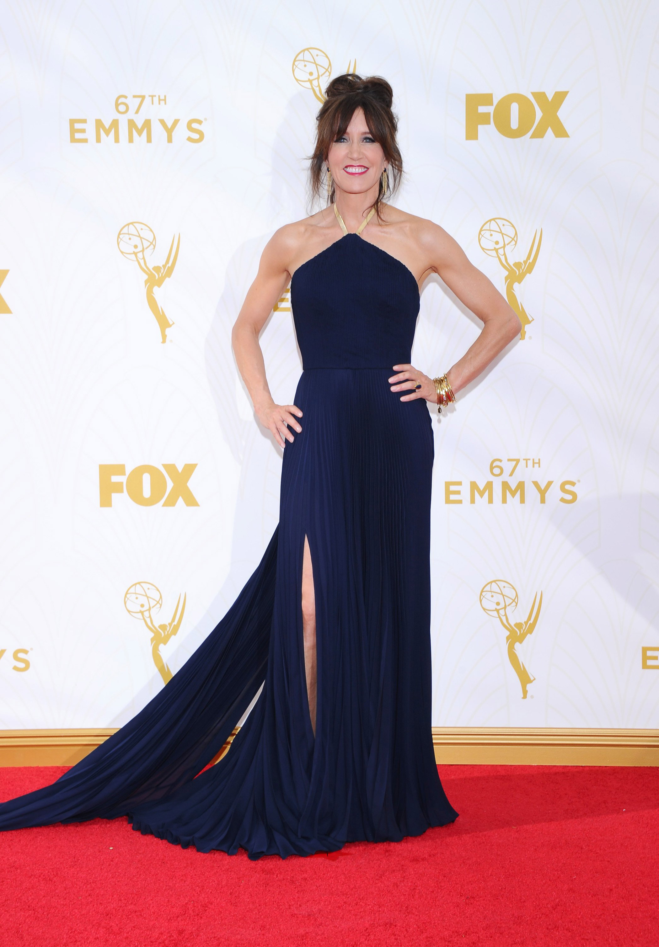 Felicity Huffman at the 67th Emmy Award on Sept. 20, 2015 in Los Angeles.