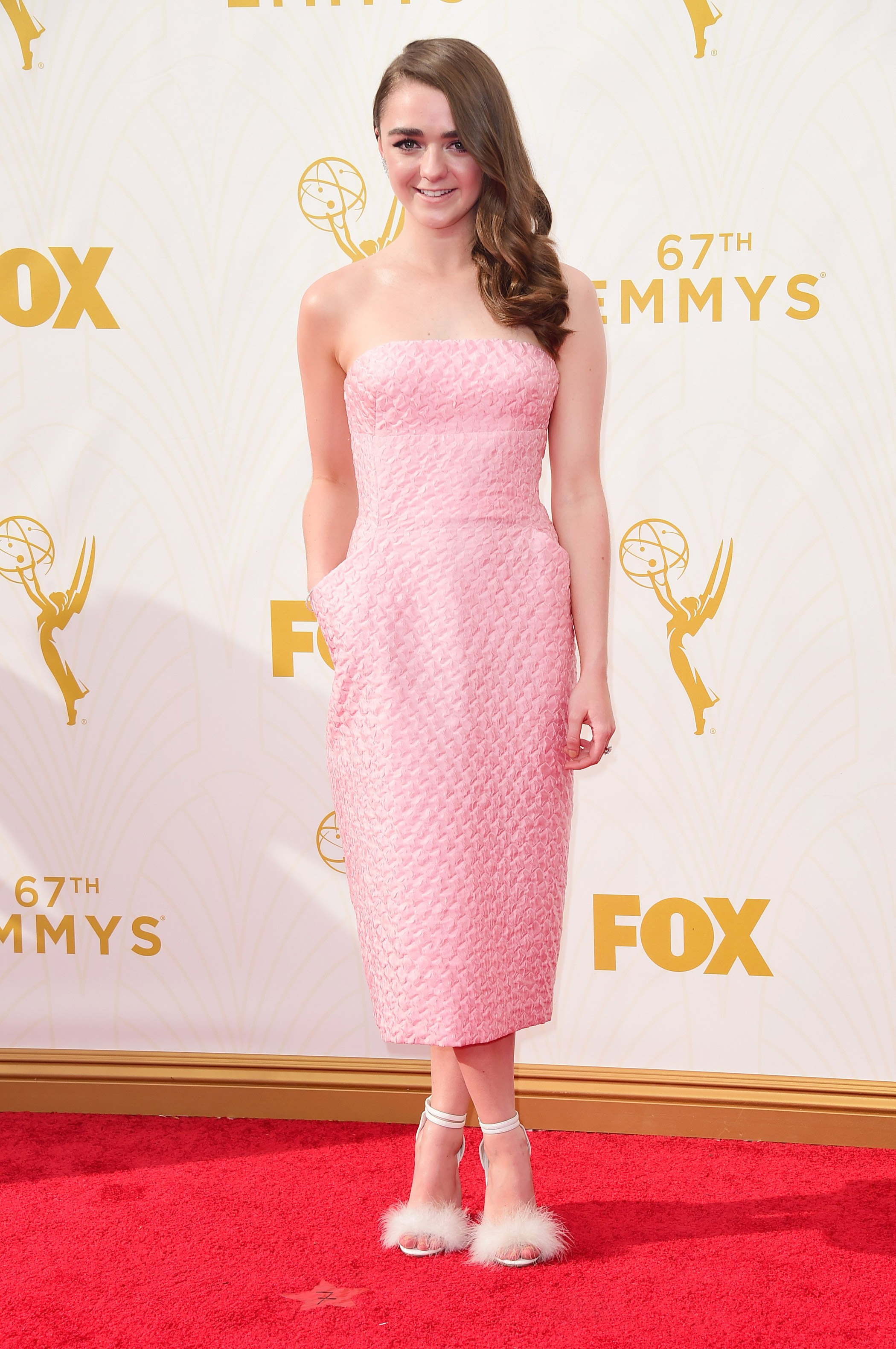 Maisie Williams at the 67th Emmy Award on Sept. 20, 2015 in Los Angeles.