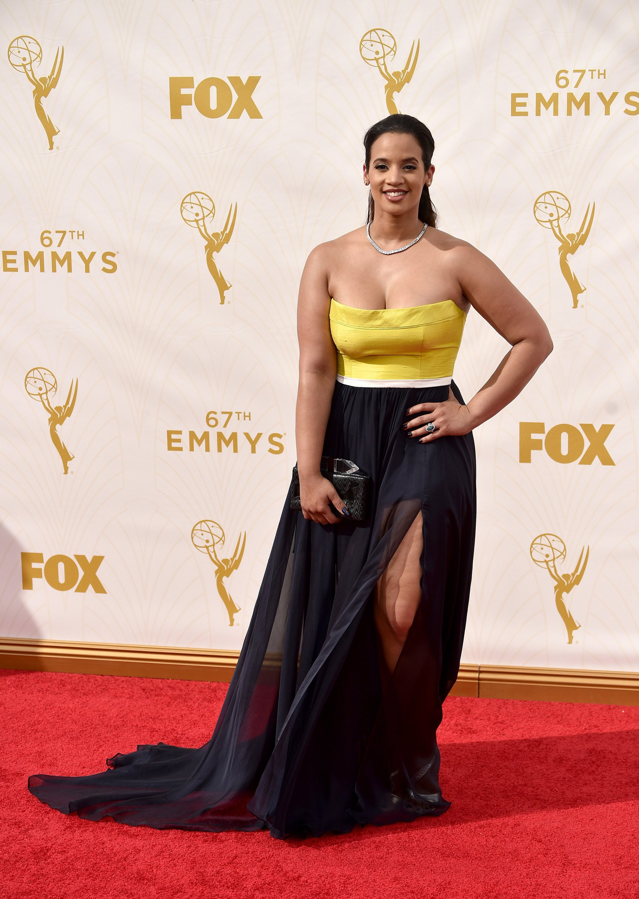 Dascha Polanco at the 67th Emmy Award on Sept. 20, 2015 in Los Angeles.