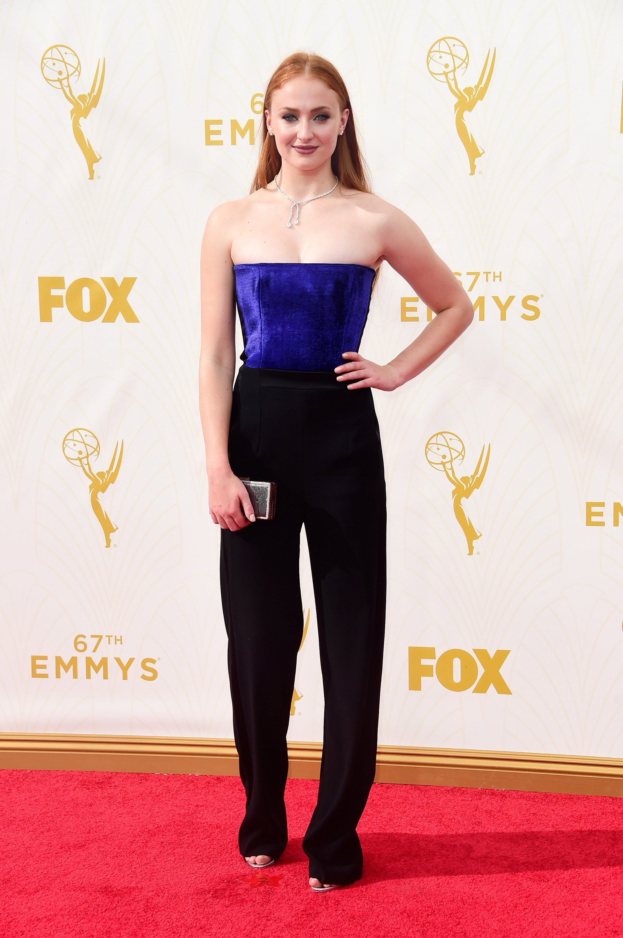 Sophie Turner at the 67th Emmy Award on Sept. 20, 2015 in Los Angeles.