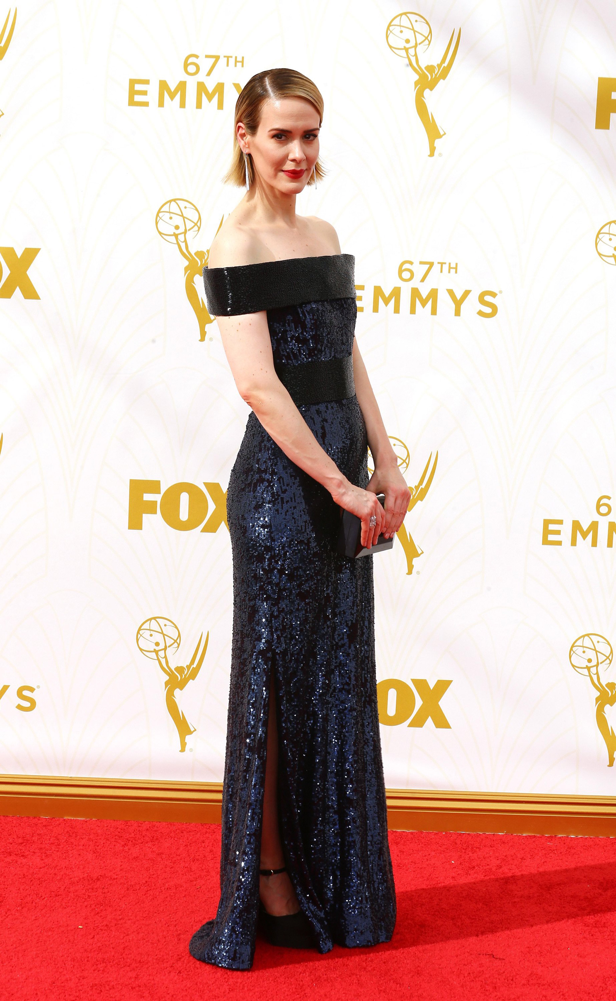 Sarah Paulson at the 67th Emmy Award on Sept. 20, 2015 in Los Angeles.