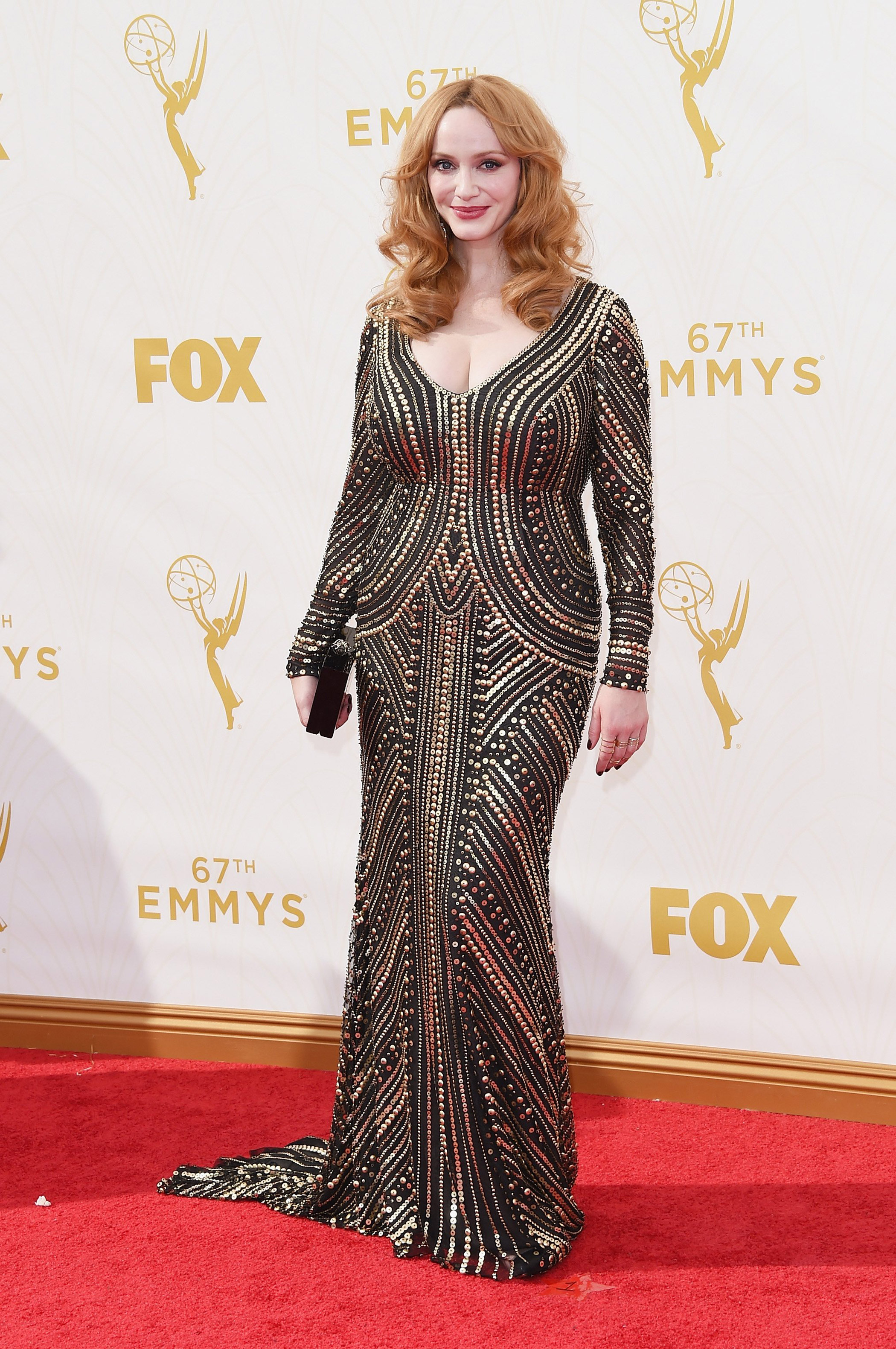 Christina Hendricks at the 67th Emmy Award on Sept. 20, 2015 in Los Angeles.