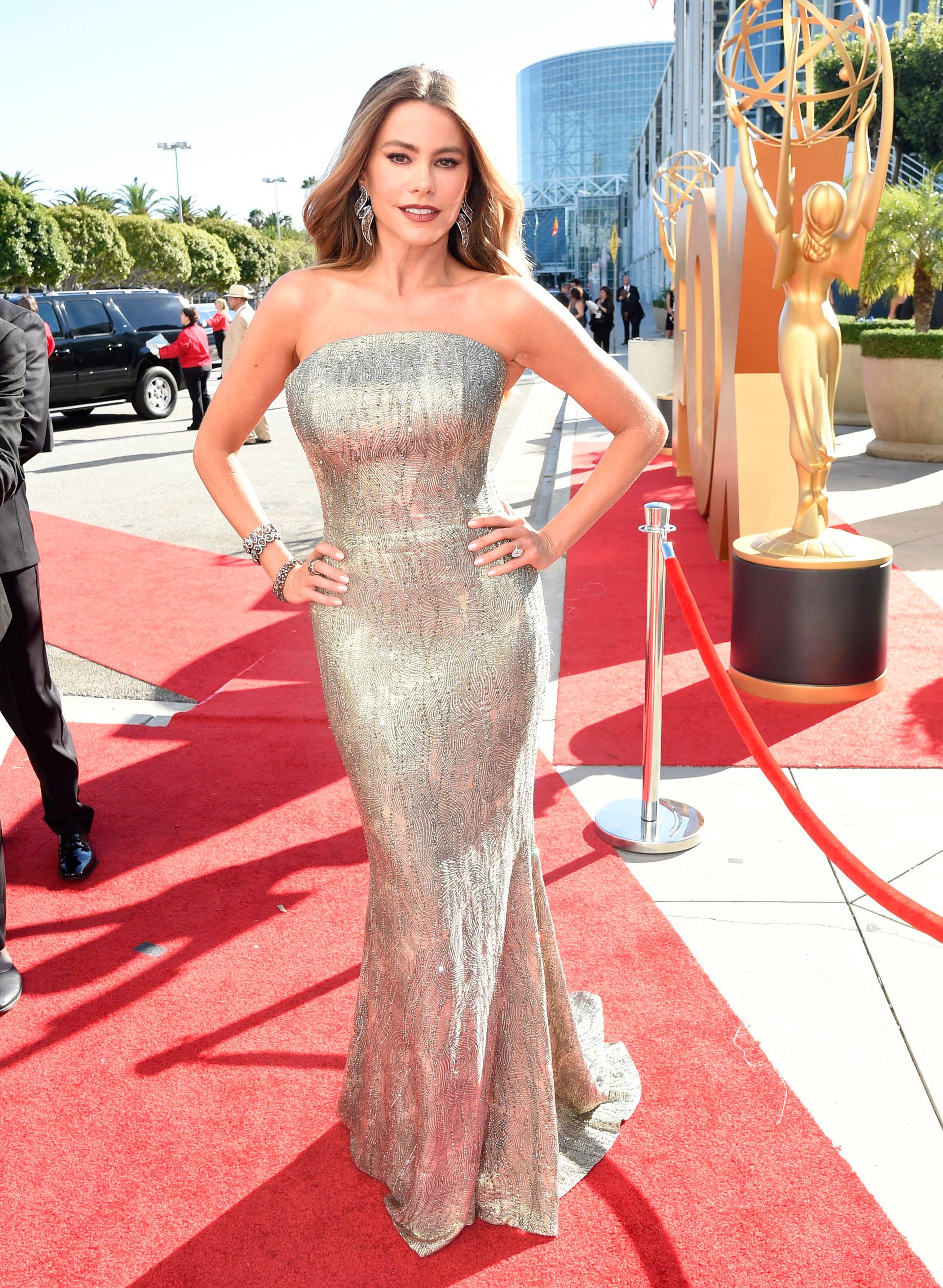 SofÌa Vergara at the 67th Emmy Award on Sept. 20, 2015 in Los Angeles.