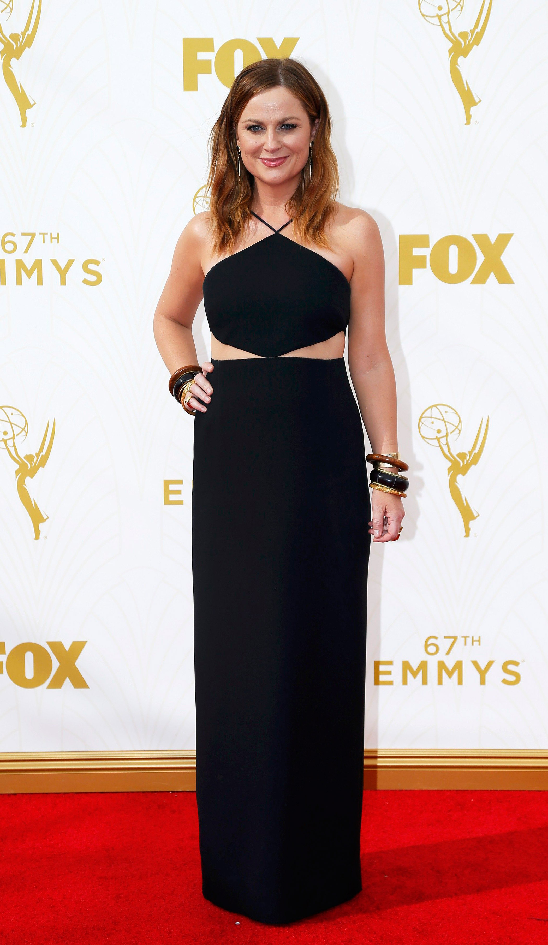 Amy Poehler  at the 67th Emmy Award on Sept. 20, 2015 in Los Angeles.