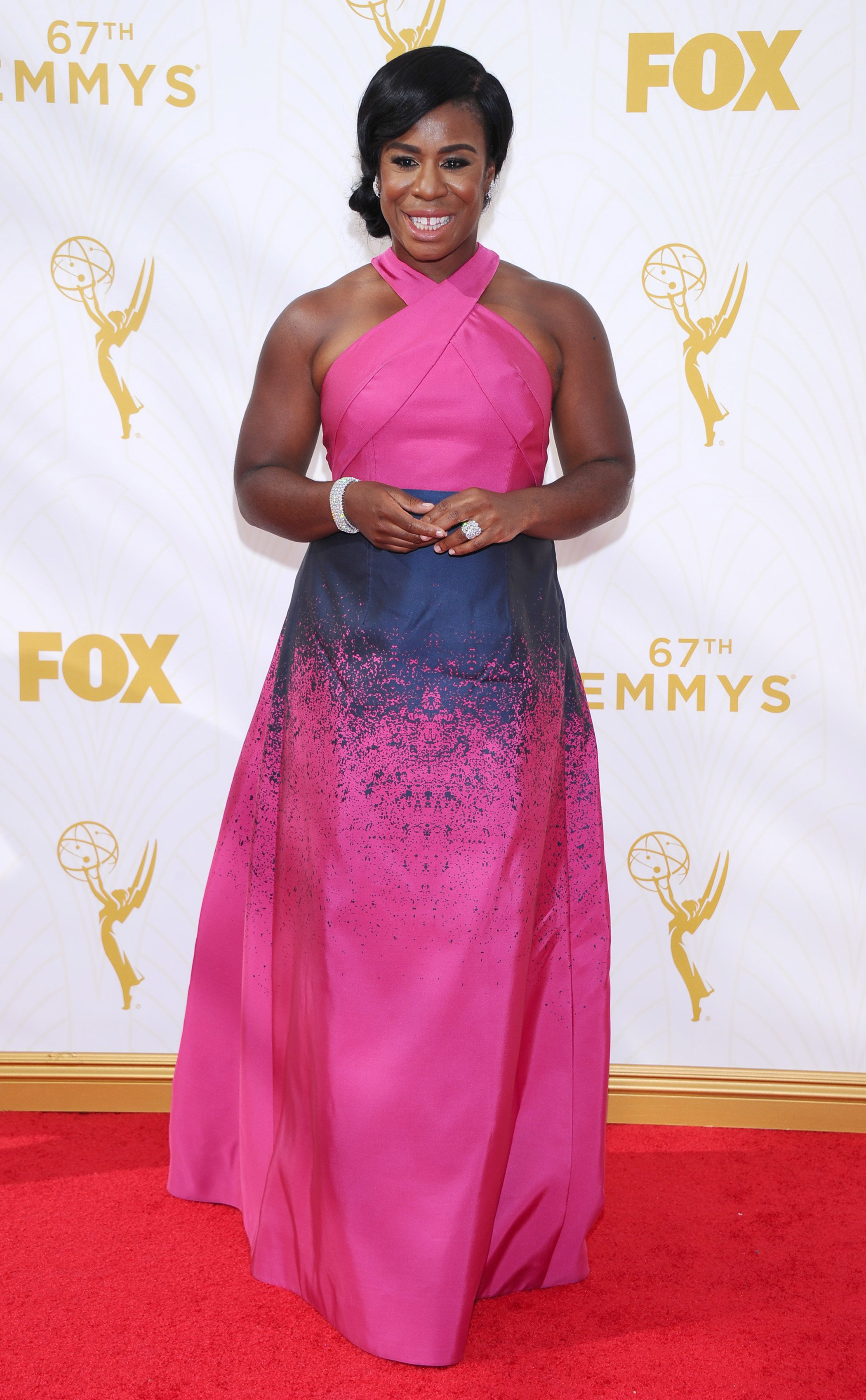 Uzo Aduba at the 67th Emmy Award on Sept. 20, 2015 in Los Angeles.