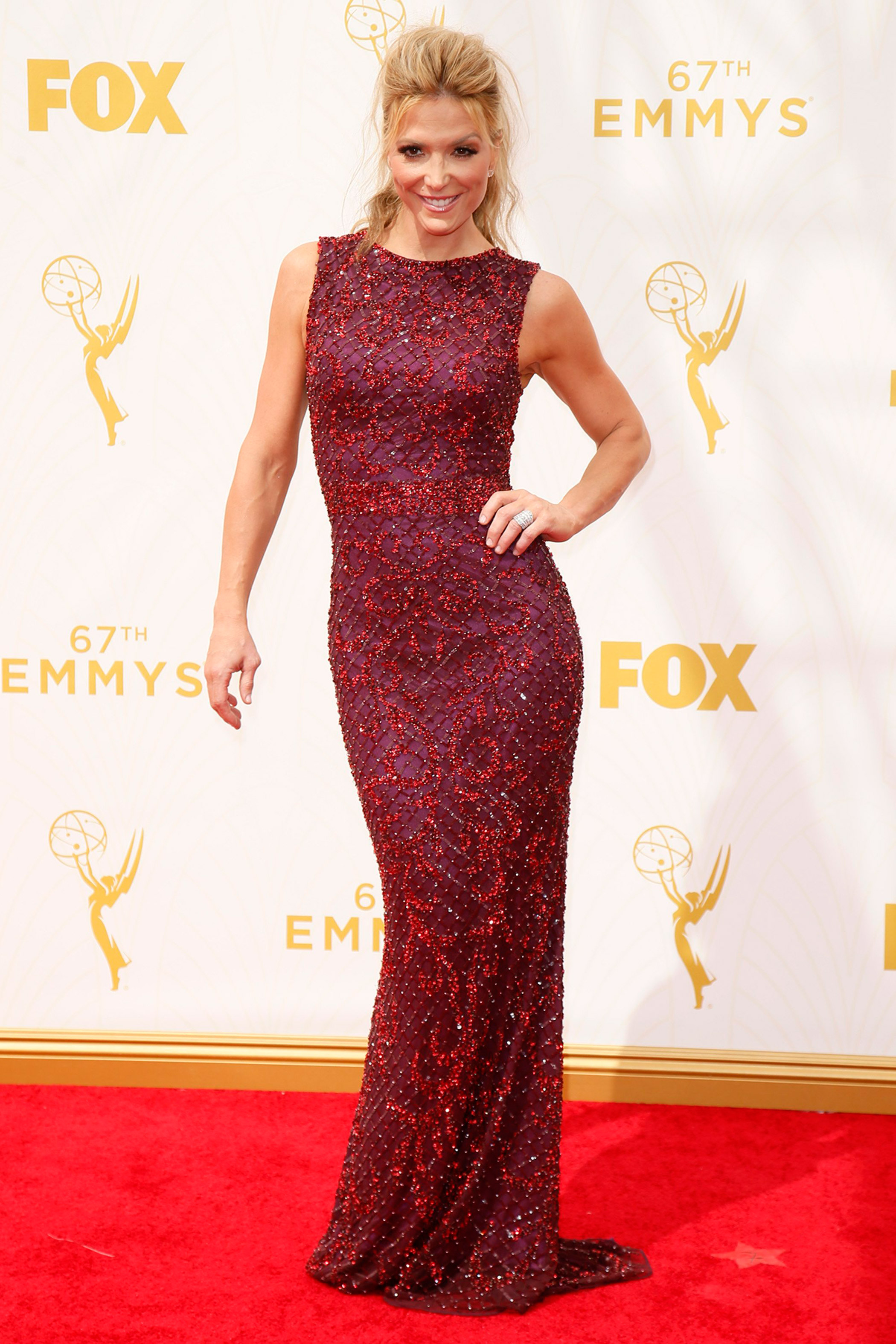 Debbie Matenopoulos at the 67th Emmy Award on Sept. 20, 2015 in Los Angeles.