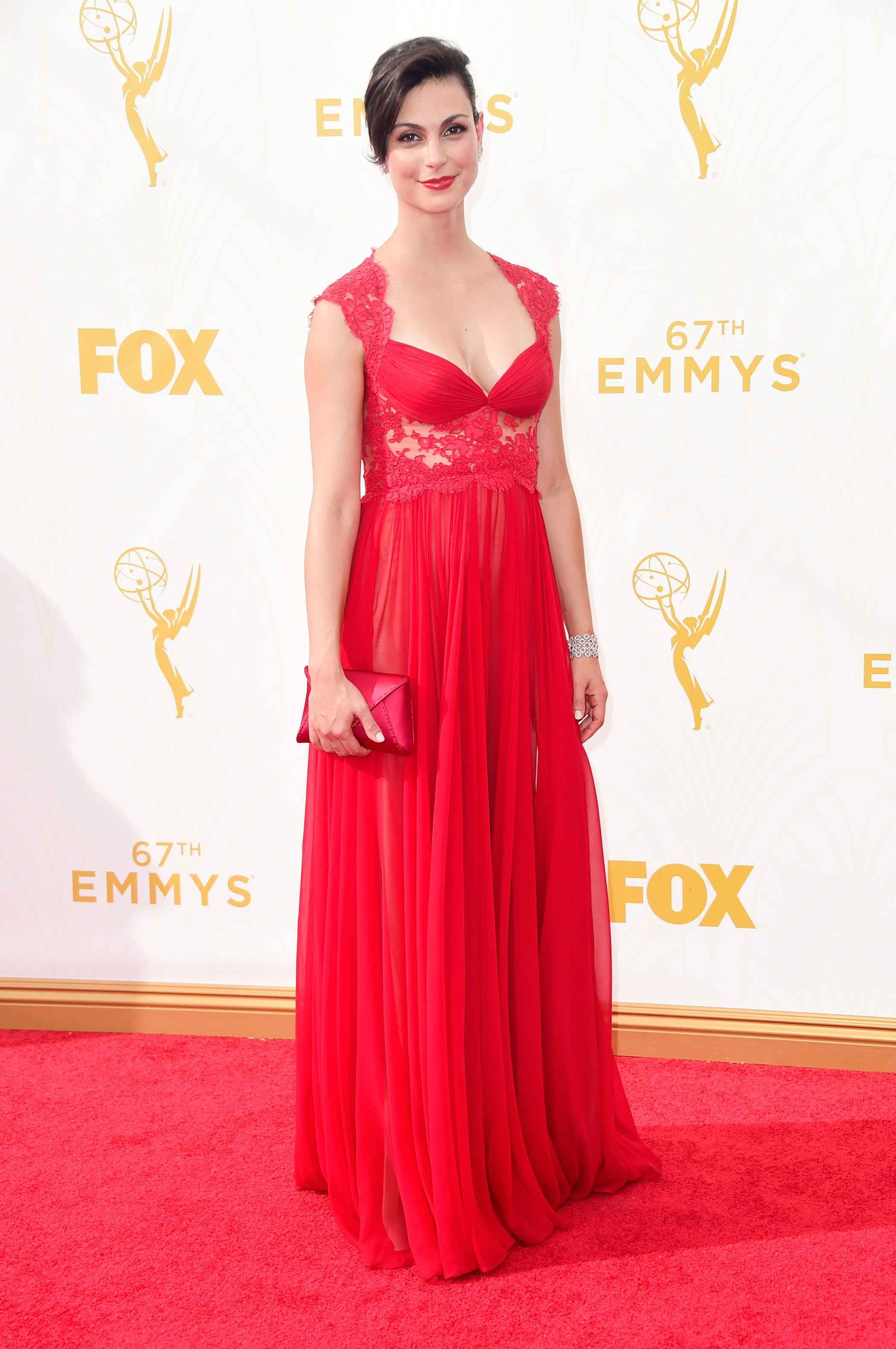 Morena Baccarin at the 67th Emmy Award on Sept. 20, 2015 in Los Angeles.