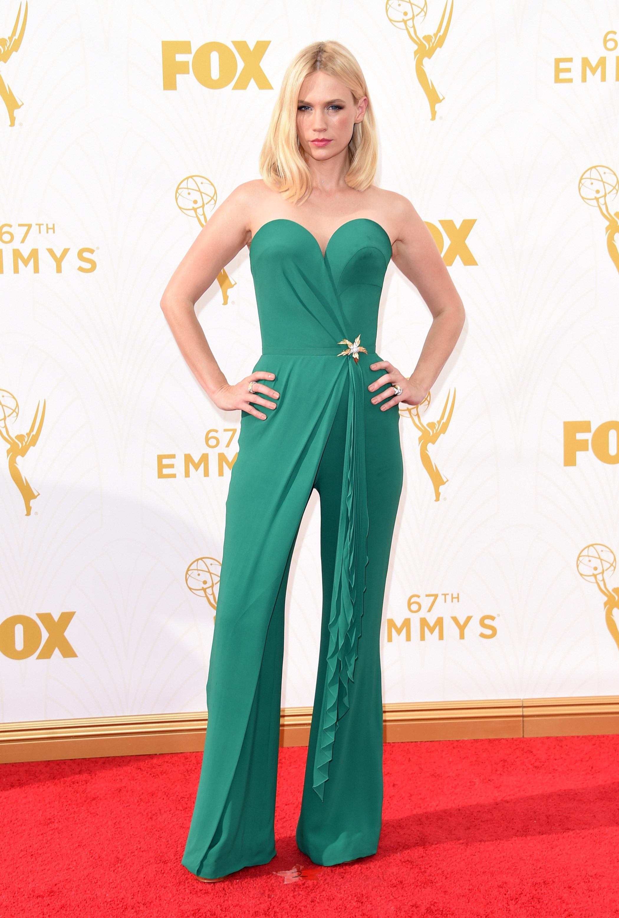January Jones at the 67th Emmy Award on Sept. 20, 2015 in Los Angeles.