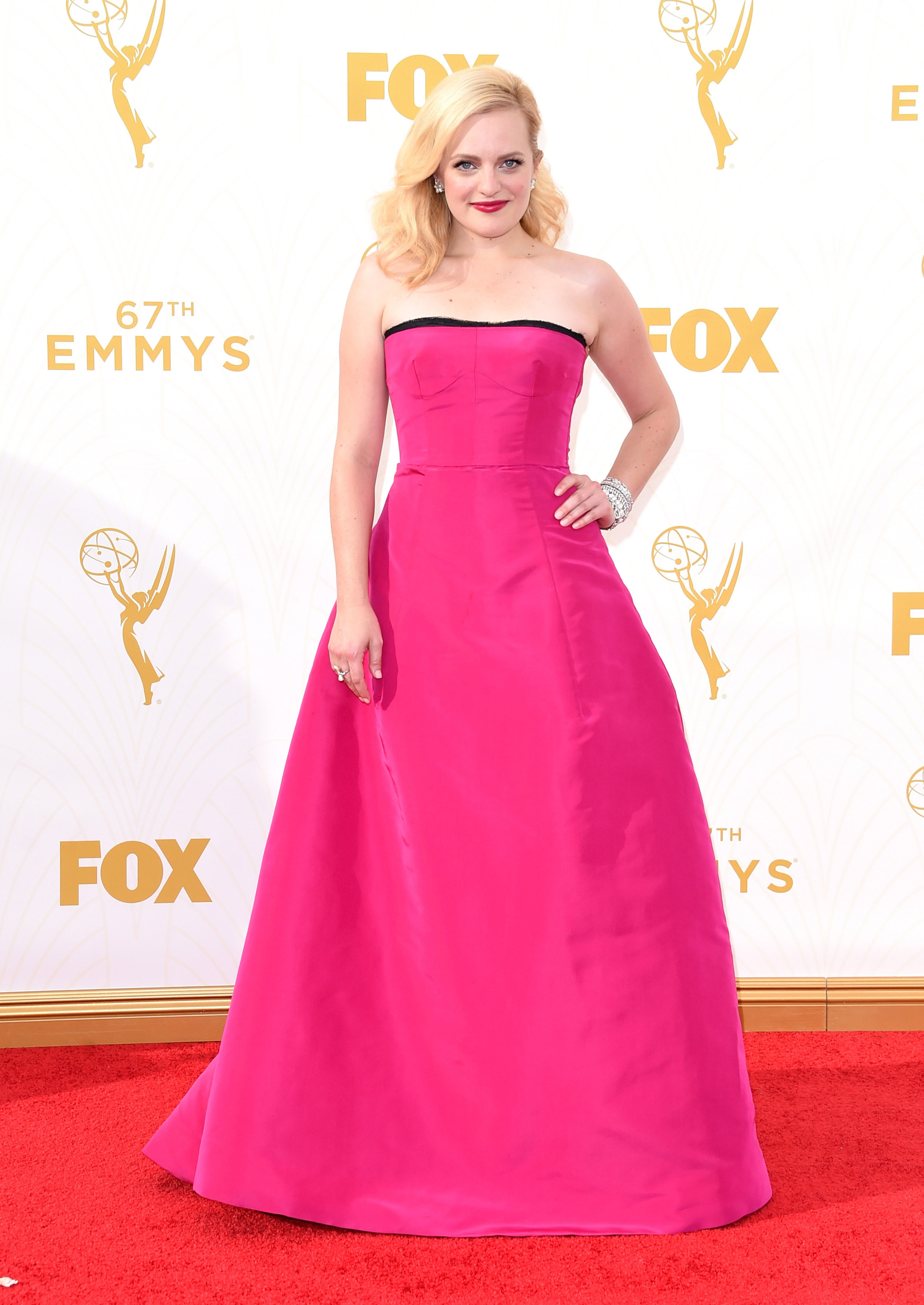 Elisabeth Moss at the 67th Emmy Award on Sept. 20, 2015 in Los Angeles.