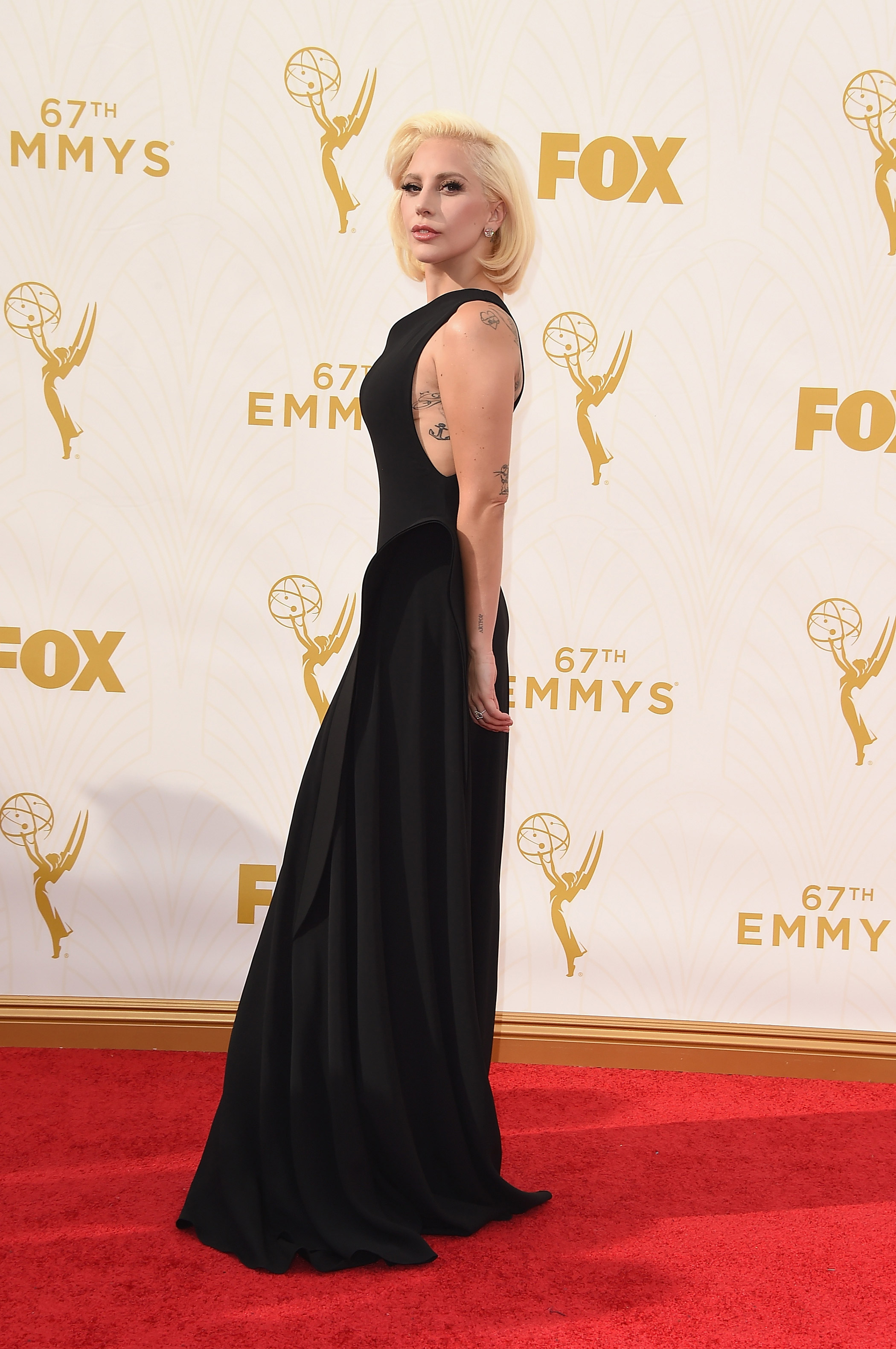 Lady Gaga at the 67th Emmy Award on Sept. 20, 2015 in Los Angeles.