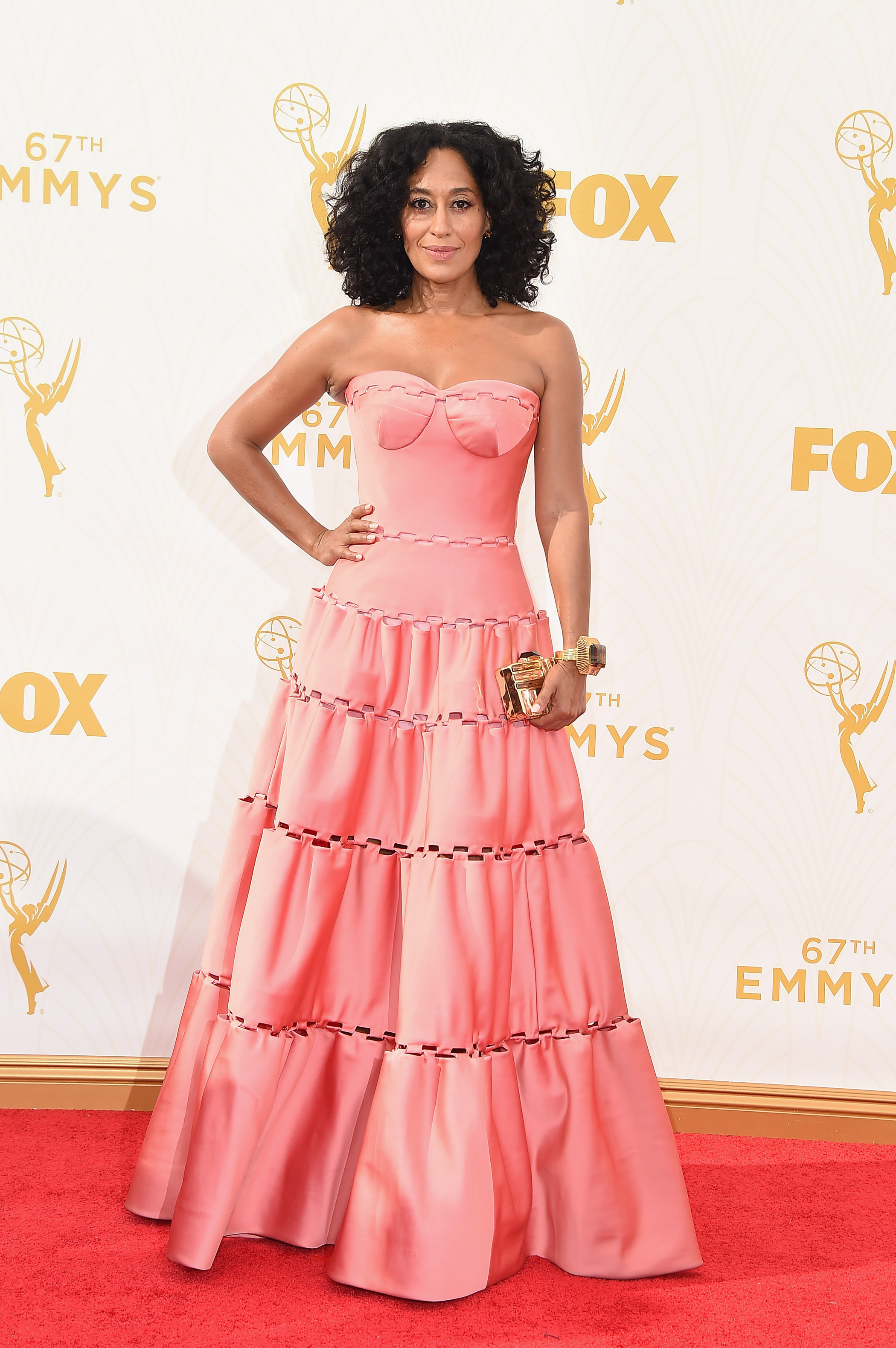 Tracee Ellis at the 67th Emmy Award on Sept. 20, 2015 in Los Angeles.
