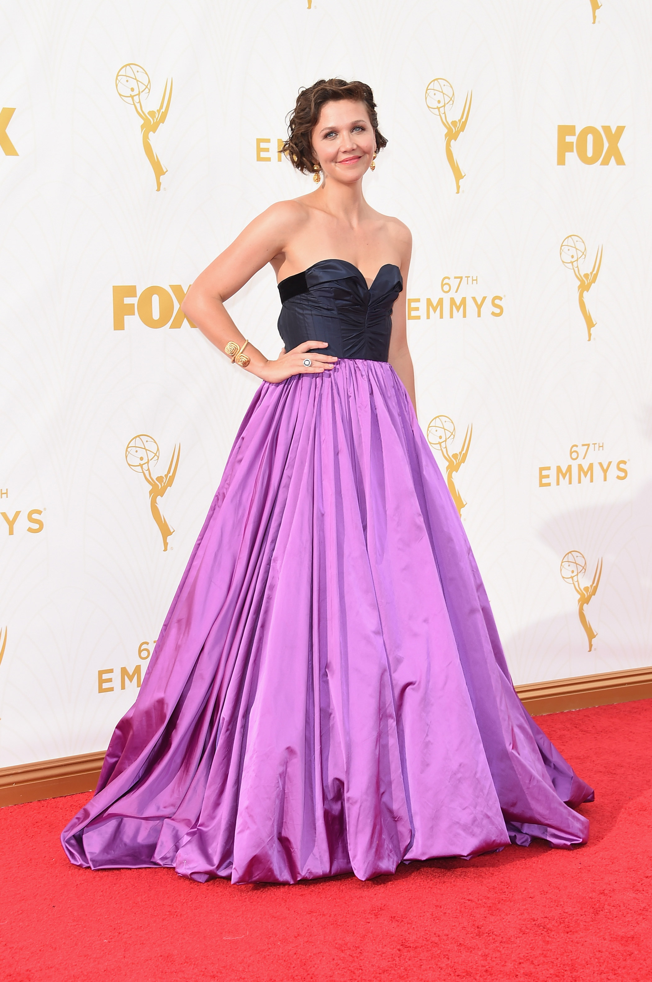 Maggie Gyllenhaal at the 67th Emmy Award on Sept. 20, 2015 in Los Angeles.