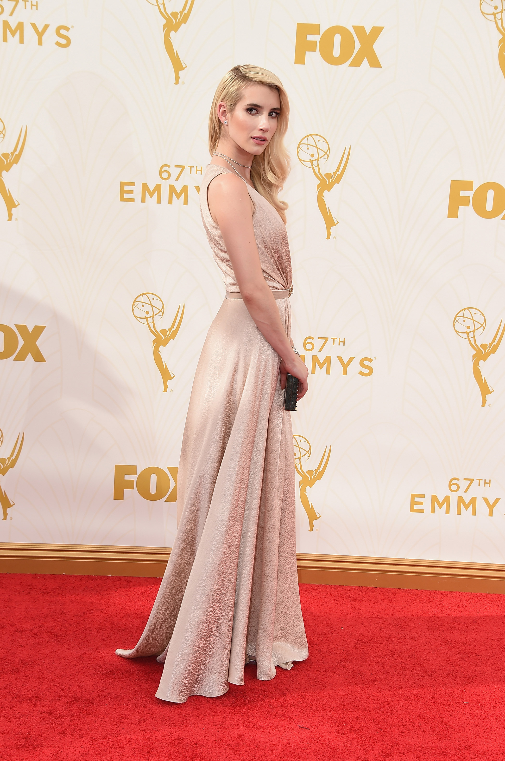 Emma Roberts at the 67th Emmy Award on Sept. 20, 2015 in Los Angeles.