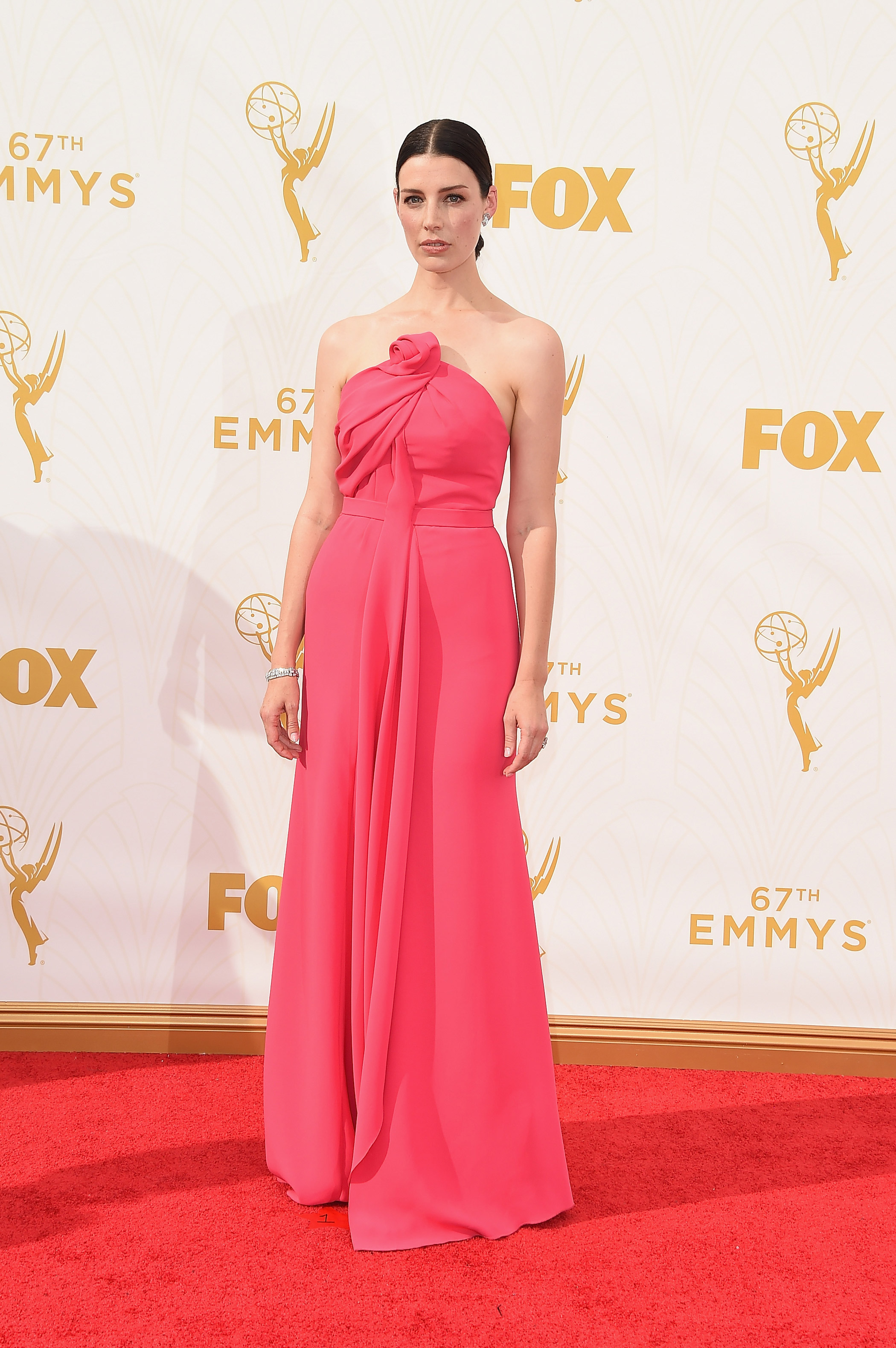 Jessica Pare attends the 67th Annual Primetime Emmy Awards on Sept. 20, 2015 in Los Angeles.
