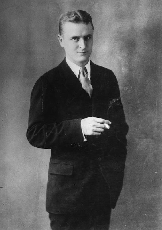 A studio portrait of American writer F. Scott Fitzgerald in 1925